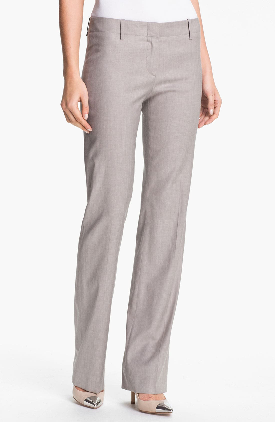 Alternate Image 1 Selected - BOSS Black 'Tulia4' Stretch Trousers