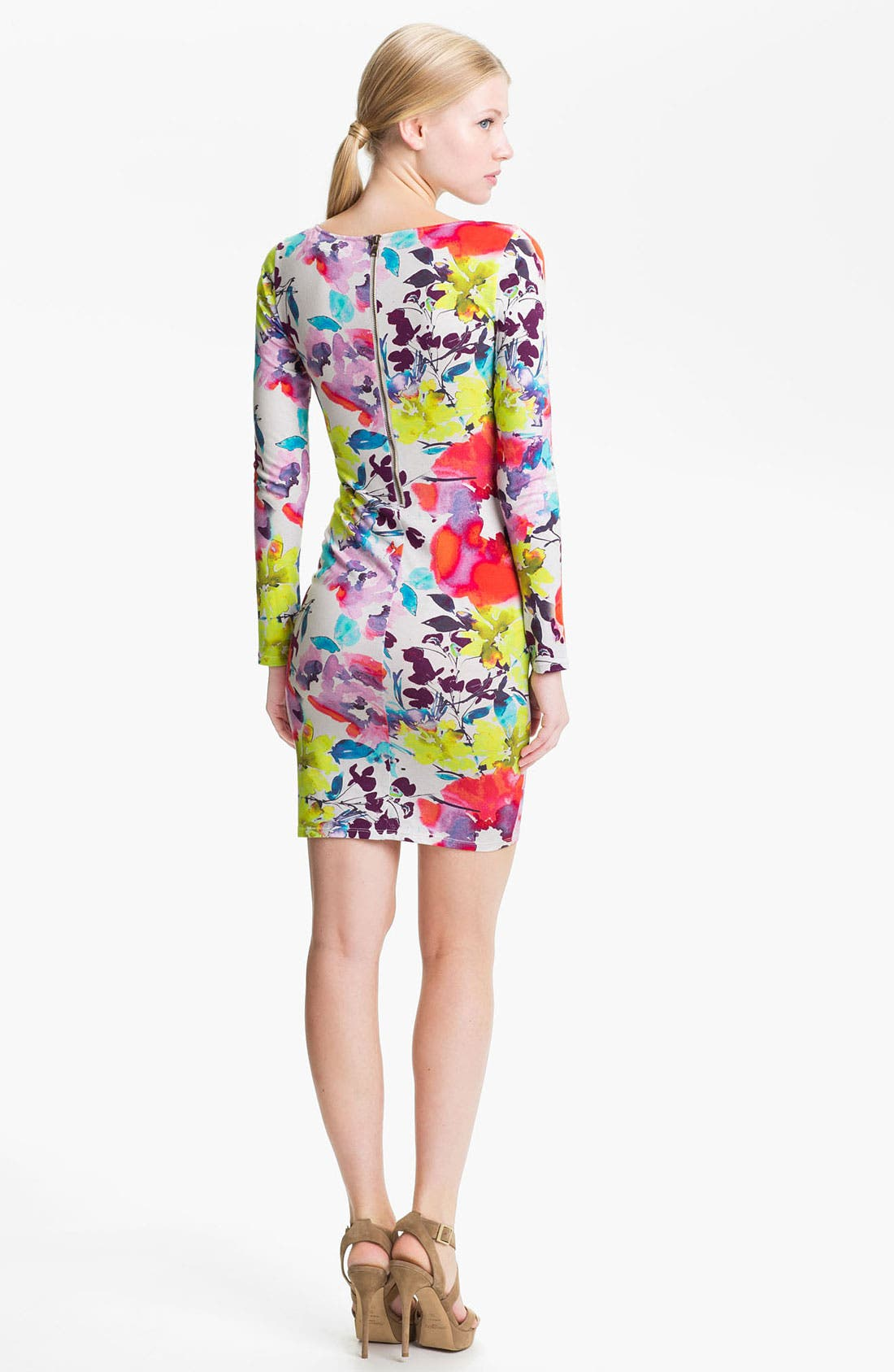 Alternate Image 2  - Alice + Olivia 'Tabitha' Floral Print Jersey Dress
