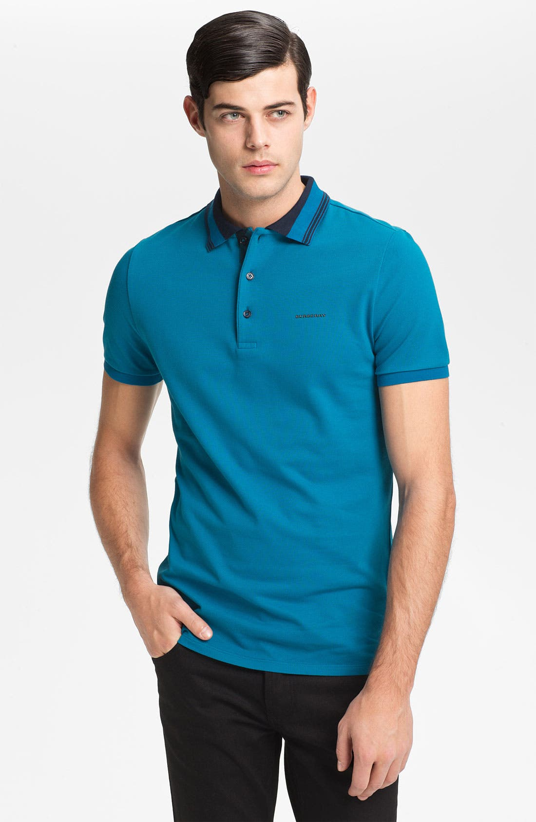 Alternate Image 1 Selected - Burberry London Tipped Polo