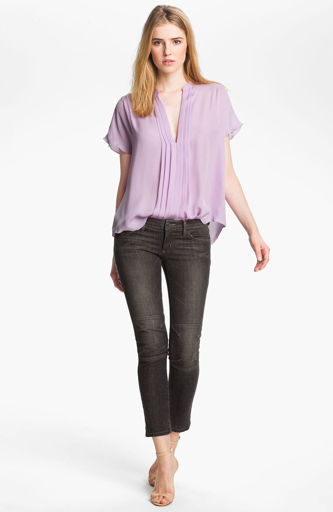 Alternate Image 2  - L'AGENCE Pleated Silk Blouse