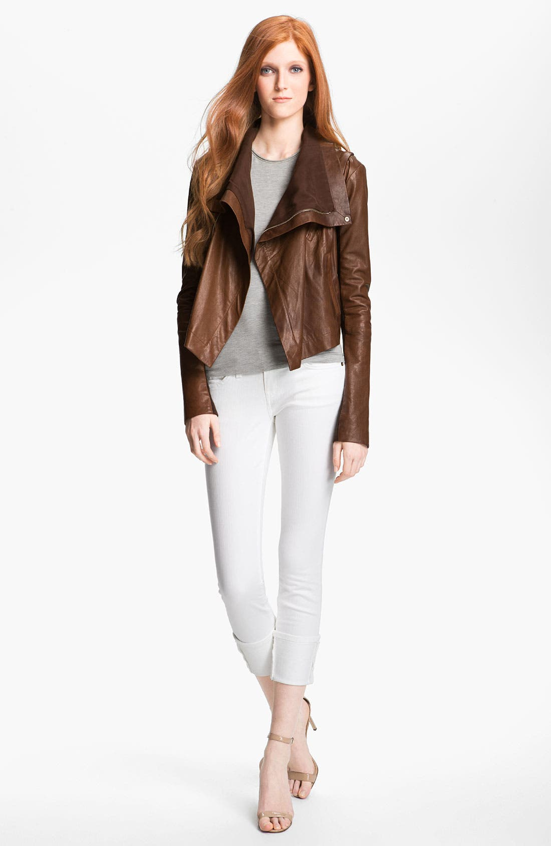 Alternate Image 1 Selected - Veda 'Max' Convertible Leather Jacket