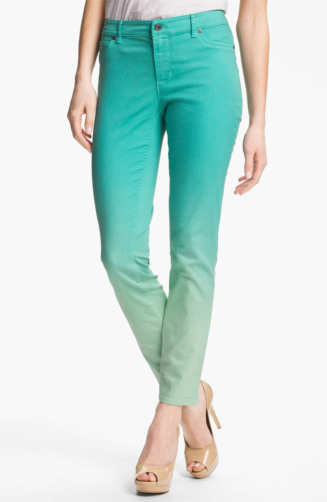 Alternate Image 1 Selected - Two by Vince Camuto Dip Dye Straight Leg Jeans