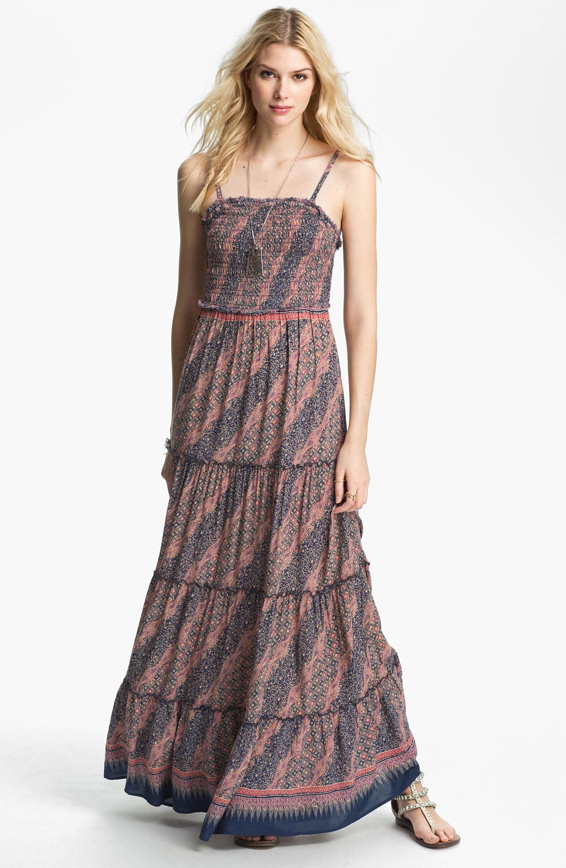 Main Image - Free People Vintage Print Tiered Maxi Dress