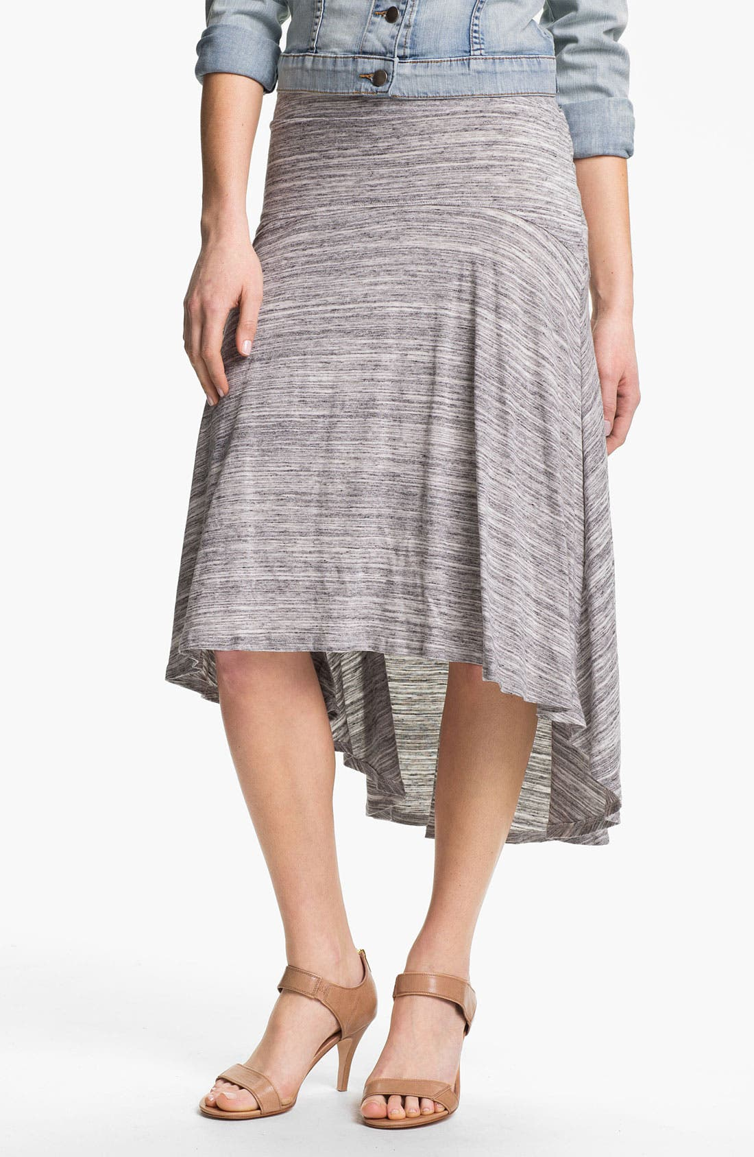 Alternate Image 1 Selected - MOD.lusive High/Low Flounce Skirt