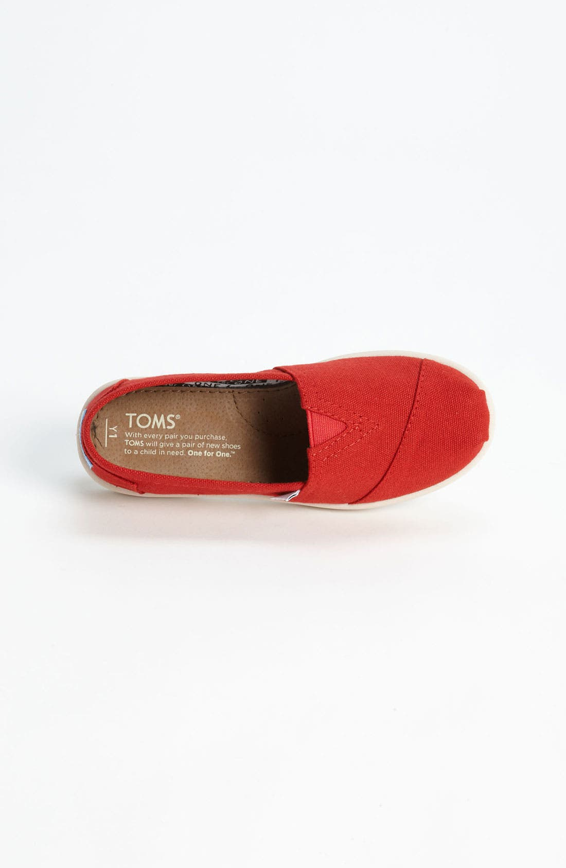 Alternate Image 3  - TOMS 'Classic - Youth' Slip-On (Toddler, Little Kid & Big Kid)