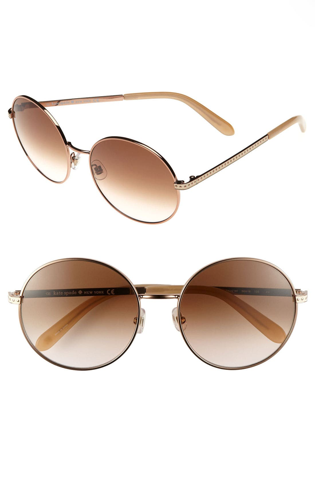 Alternate Image 1 Selected - kate spade new york 'avice' 56mm sunglasses