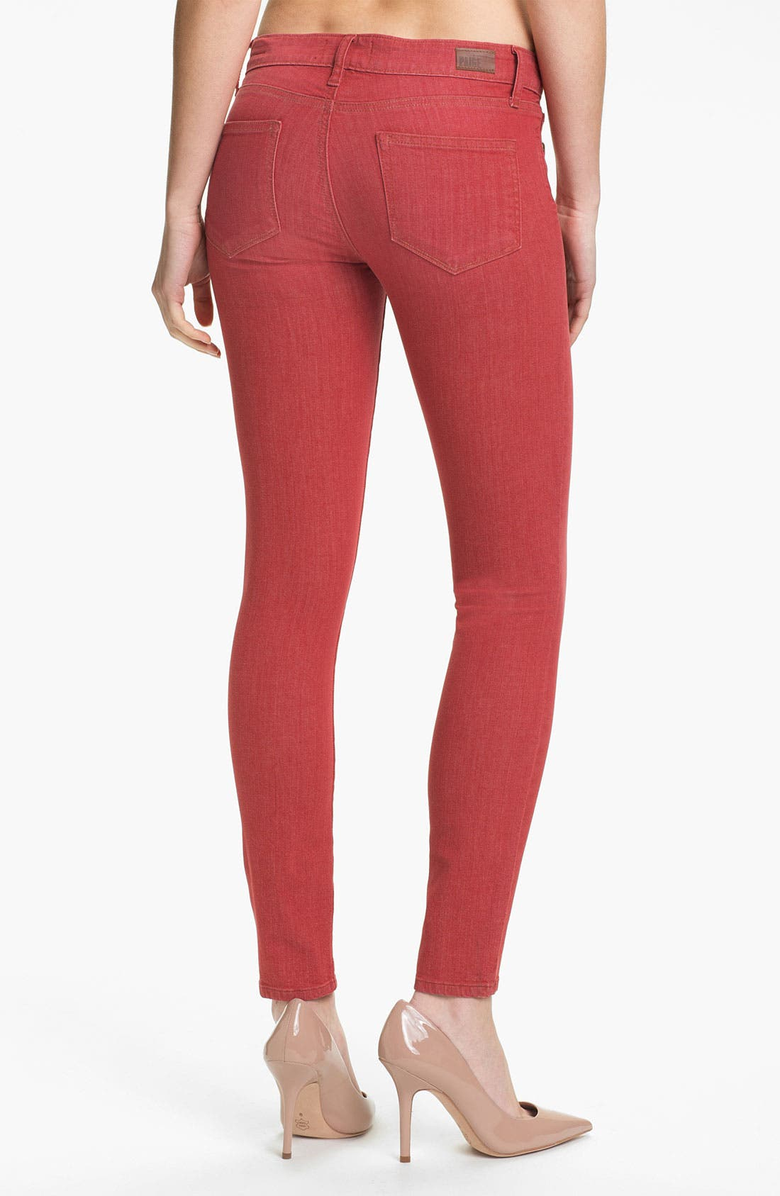 Alternate Image 2  - Paige Denim 'Verdugo' Skinny Stretch Denim Jeans (Vintage Red)