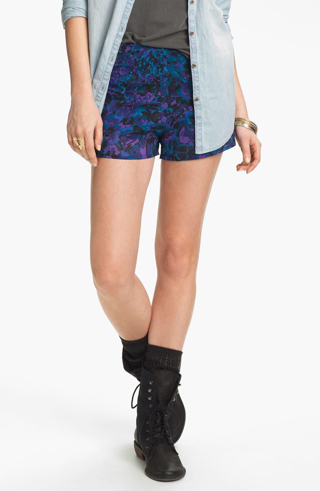 Main Image - Mimi Chica Floral Print Shorts (Juniors)