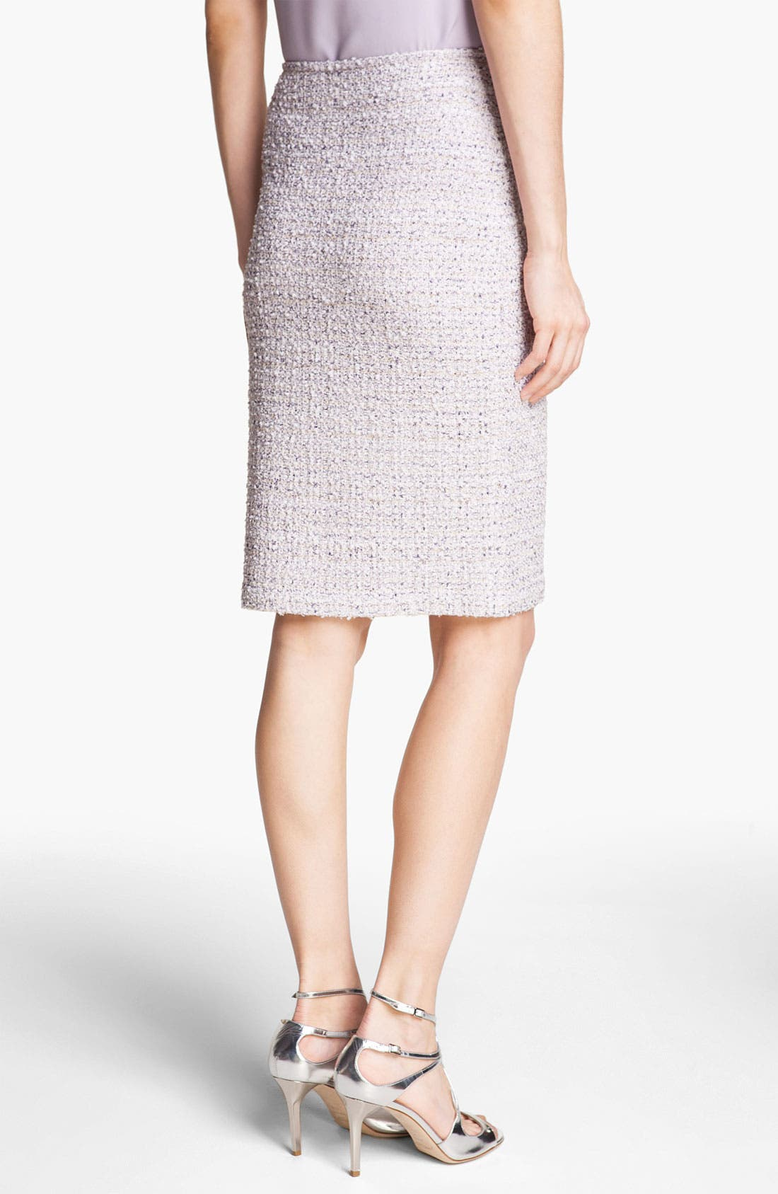 Tweed Pencil Skirt,                             Alternate thumbnail 3, color,                             Lilac Multi