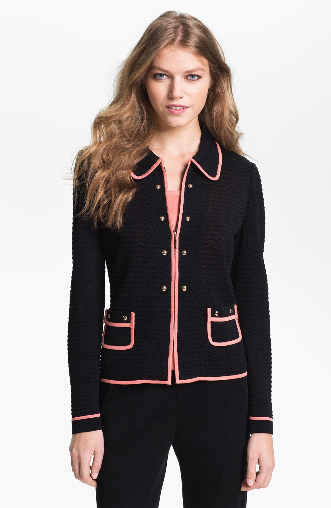 Main Image - Ming Wang Zip Front Jacket