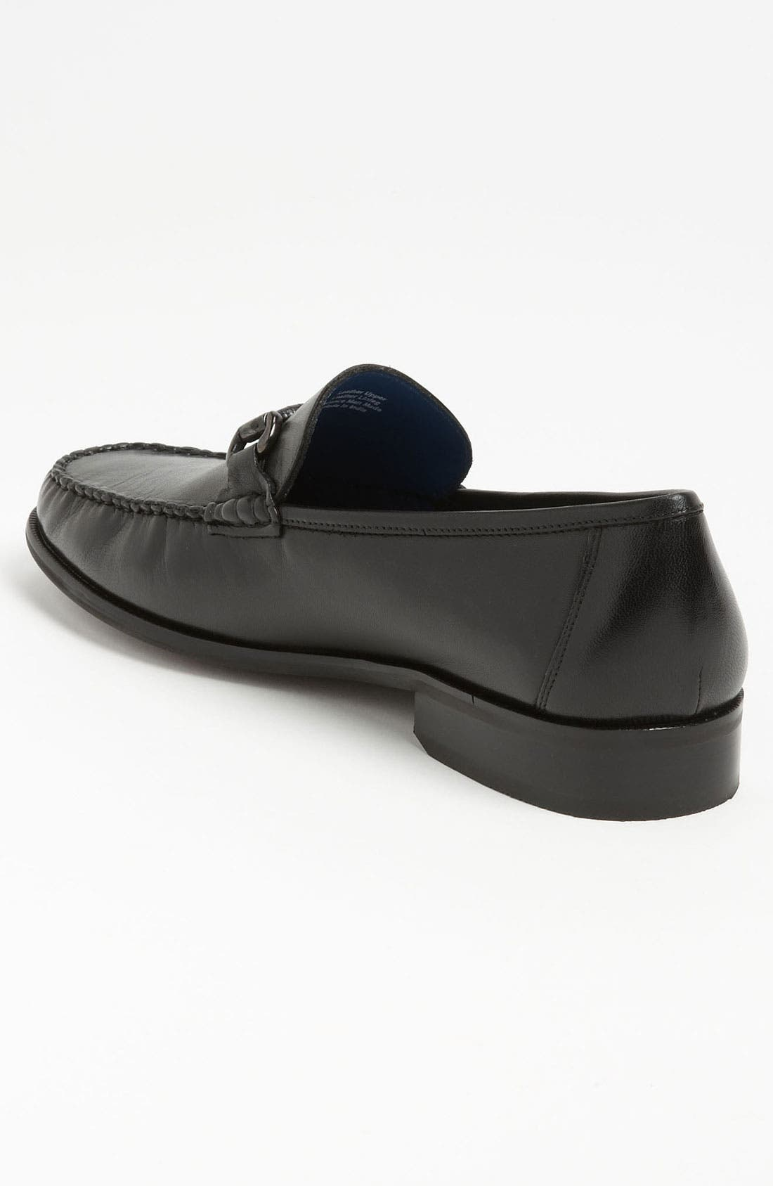 'Sarasota' Bit Loafer,                             Alternate thumbnail 2, color,                             Black Smooth