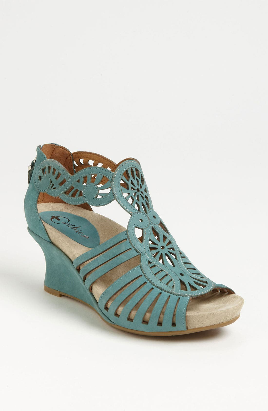 'Caradonna' Sandal,                         Main,                         color, Light Teal