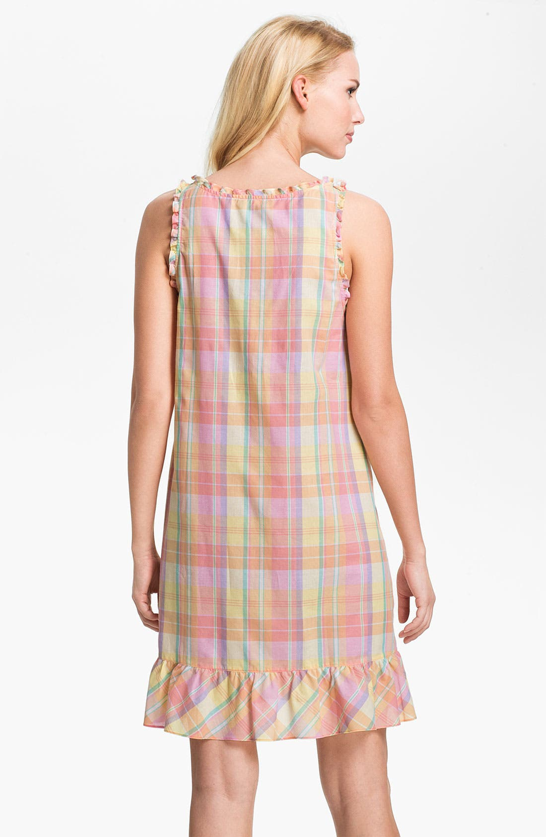 Alternate Image 2  - Lauren Ralph Lauren Sleeveless Ruffle Nightgown