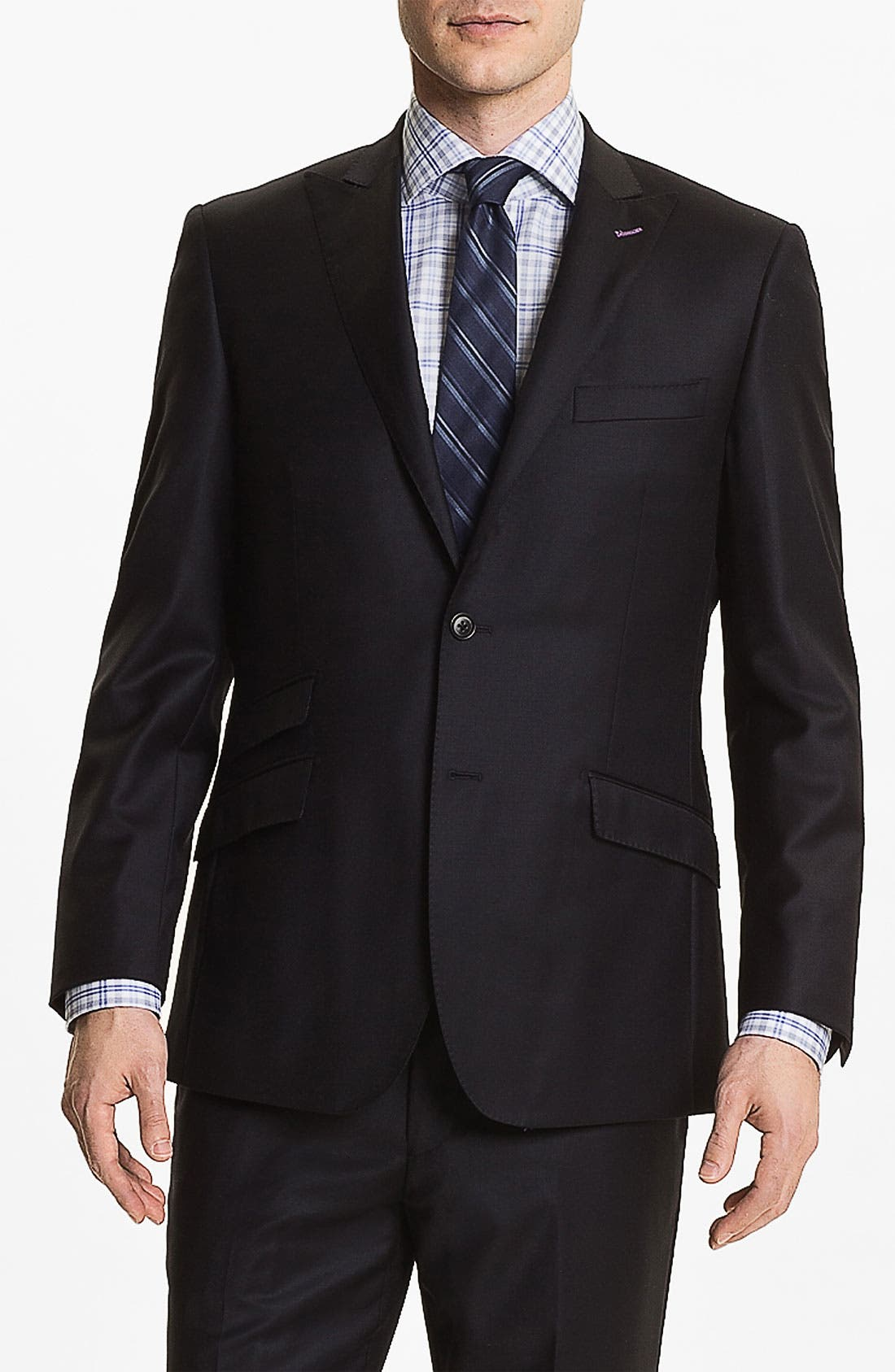 Alternate Image 3  - English Laundry Trim Fit Wool Suit (Online Only)