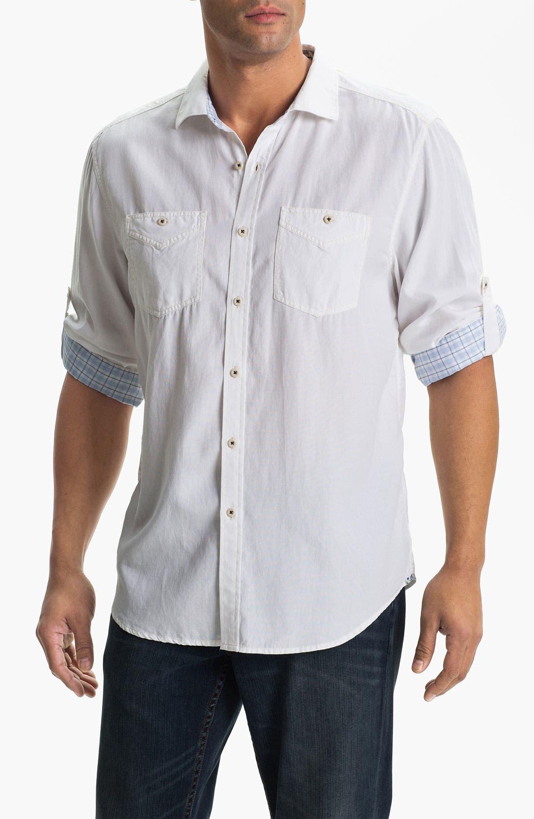 Alternate Image 1 Selected - Tommy Bahama Denim 'Sand City' Island Modern Fit Sport Shirt