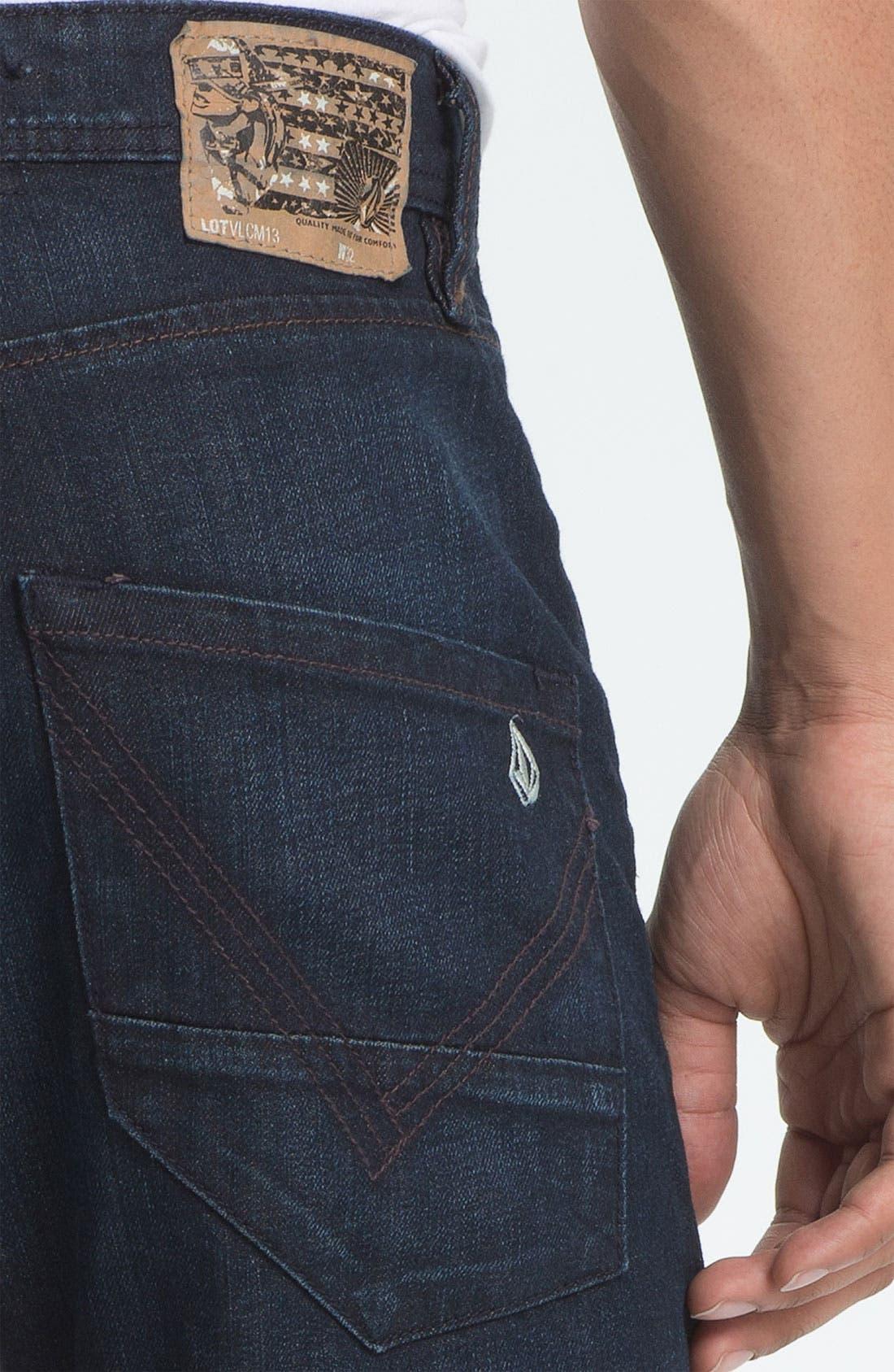 Alternate Image 4  - Volcom 'Nova' Slim Straight Leg Jeans (VC02) (Online Only)
