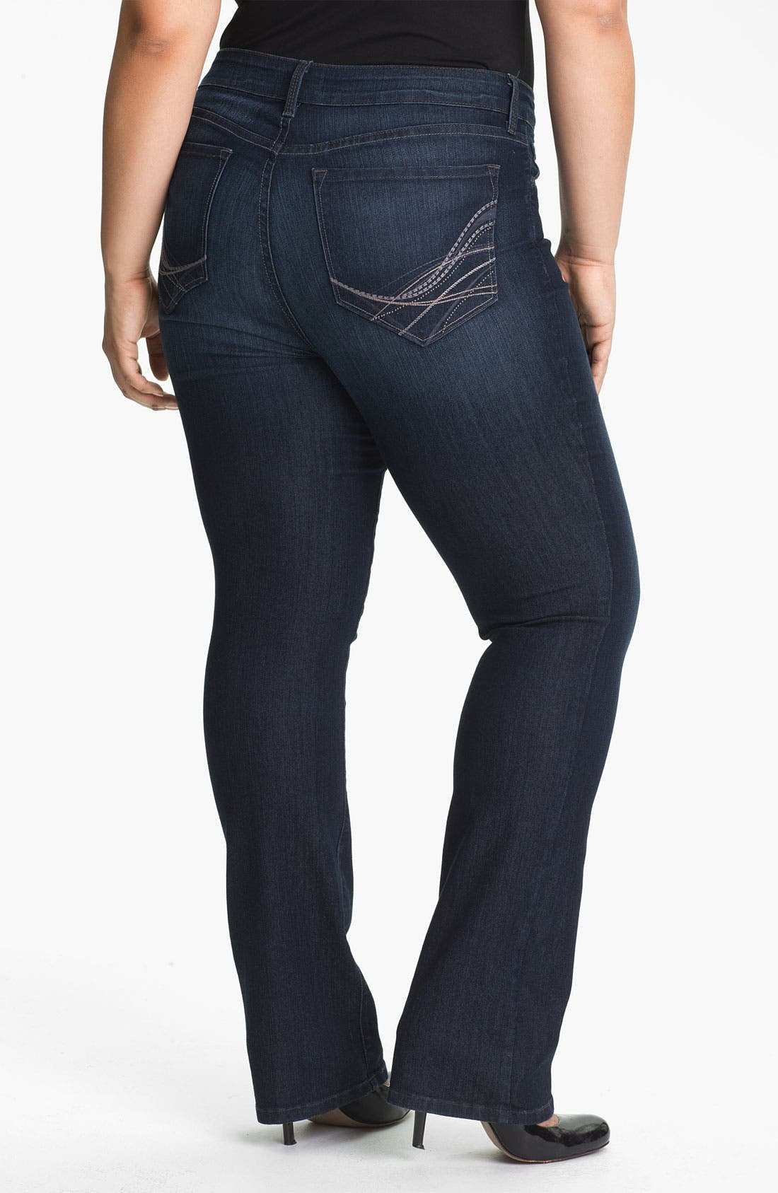 Alternate Image 2  - NYDJ 'Marilyn' Straight Leg Jeans (Plus Size)