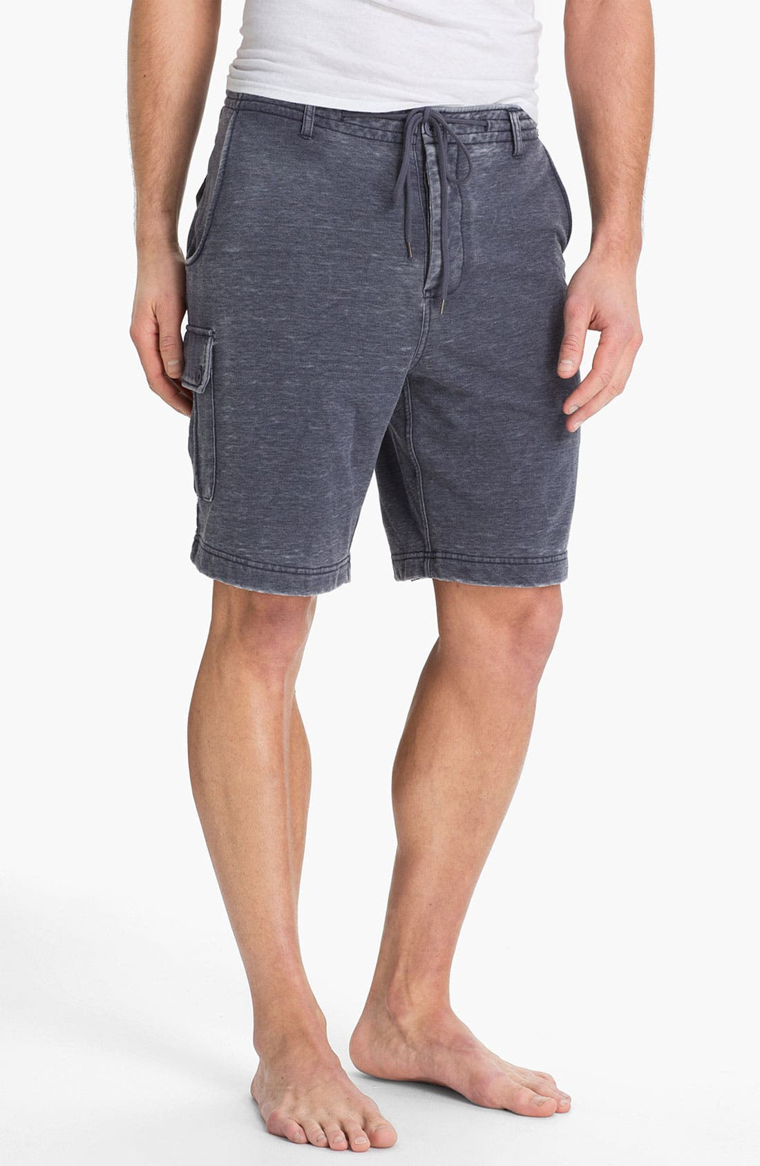Alternate Image 1 Selected - Daniel Buchler Cotton & Polyester Overwashed Cargo Shorts