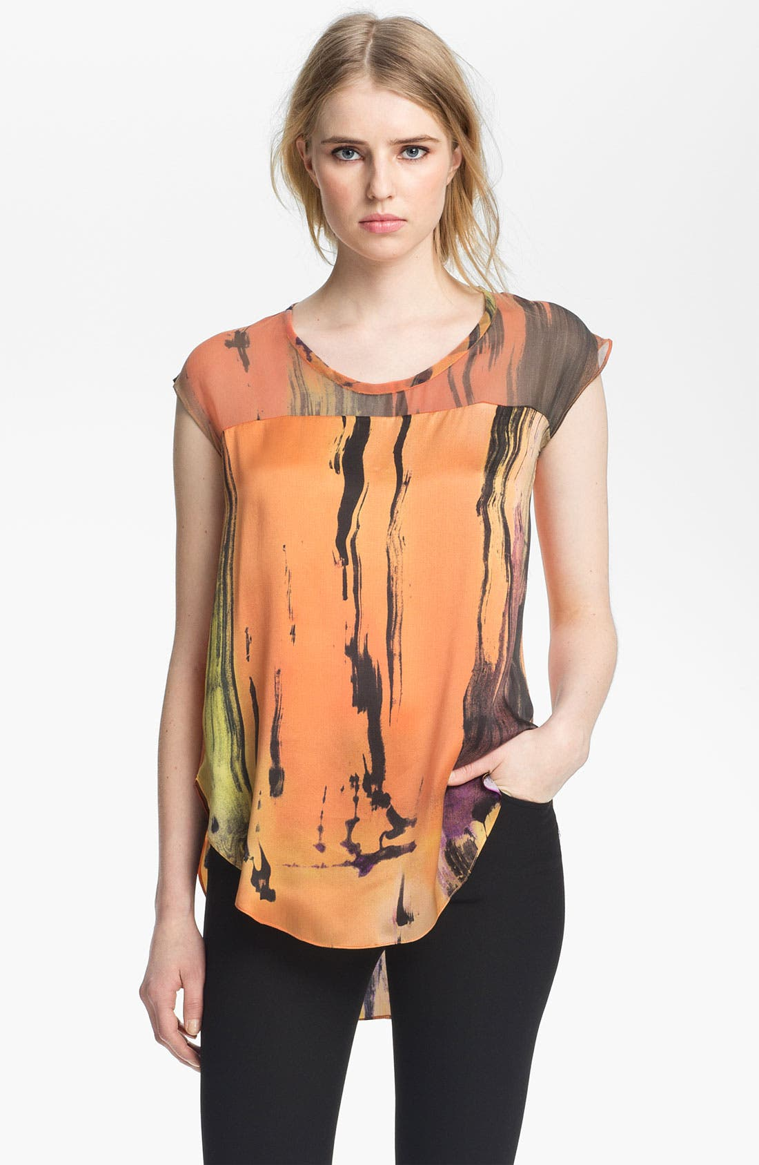 Alternate Image 2  - Elizabeth and James 'Kari' Print Silk Top