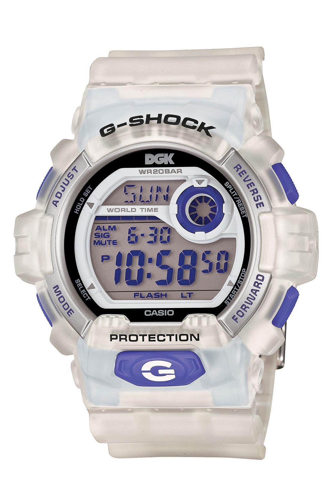 Main Image - G-Shock 'DGK' Digital Watch, 55mm