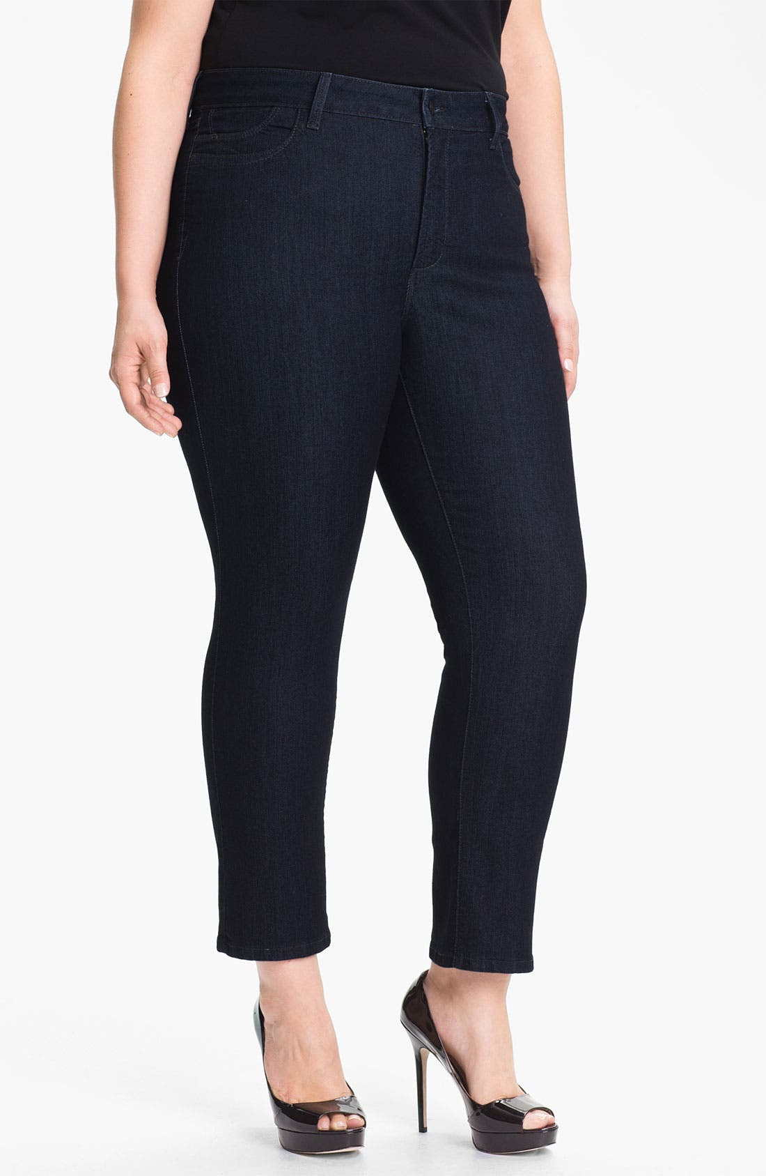 Alternate Image 1 Selected - NYDJ 'Audrey' Stretch Ankle Skinny Jeans (Plus Size)