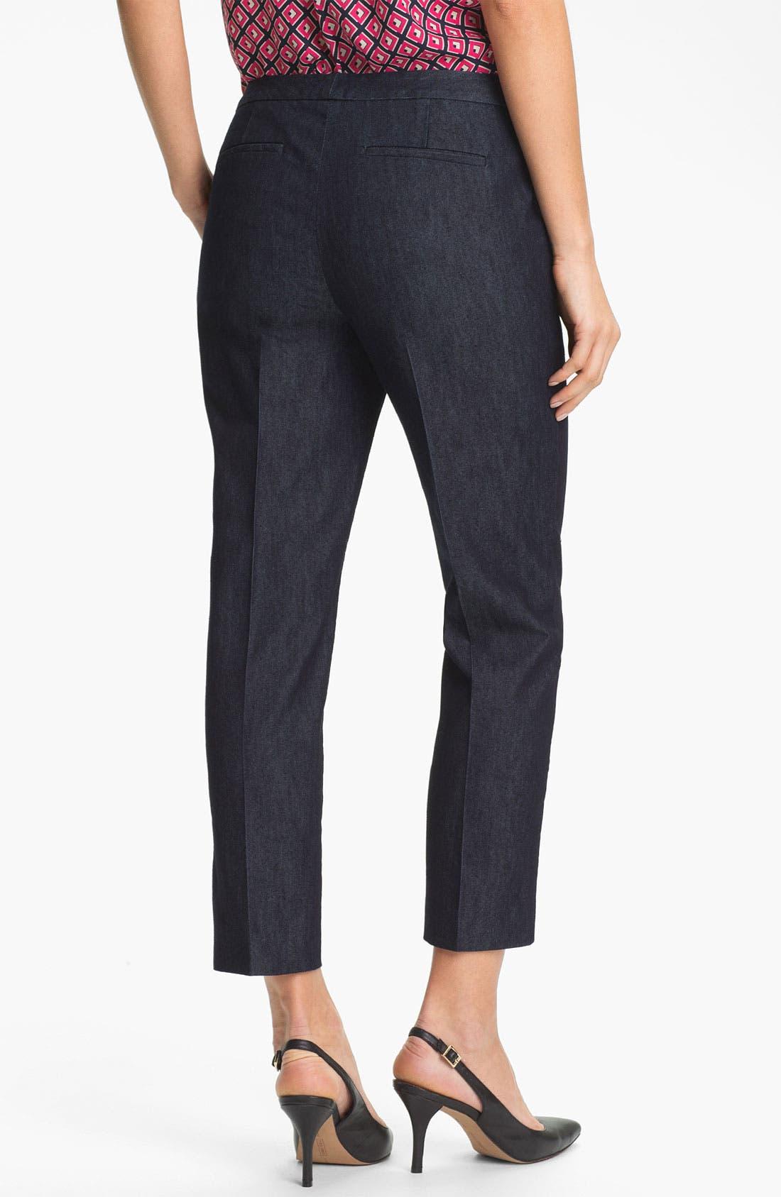 Alternate Image 2  - Halogen® 'Taylor' Curvy Fit Crop Pants