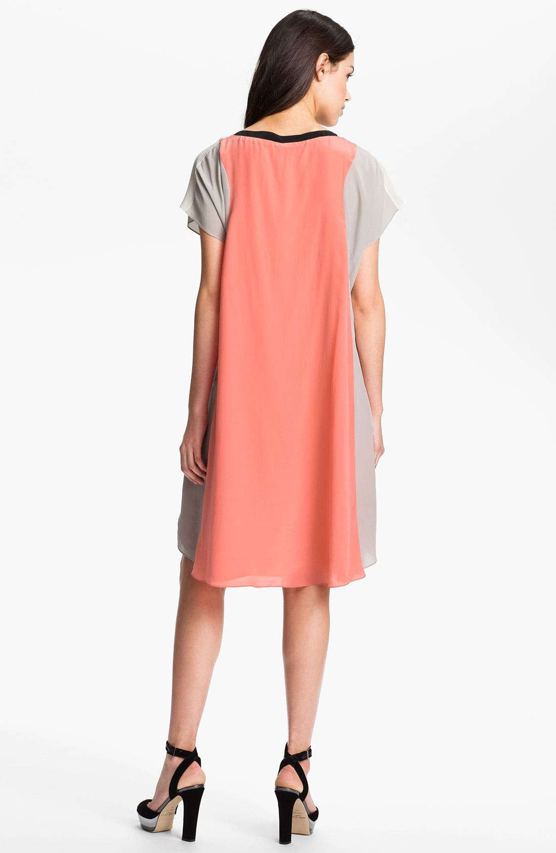 Alternate Image 2  - Rebecca Minkoff 'Jenner' Colorblock Silk Dress