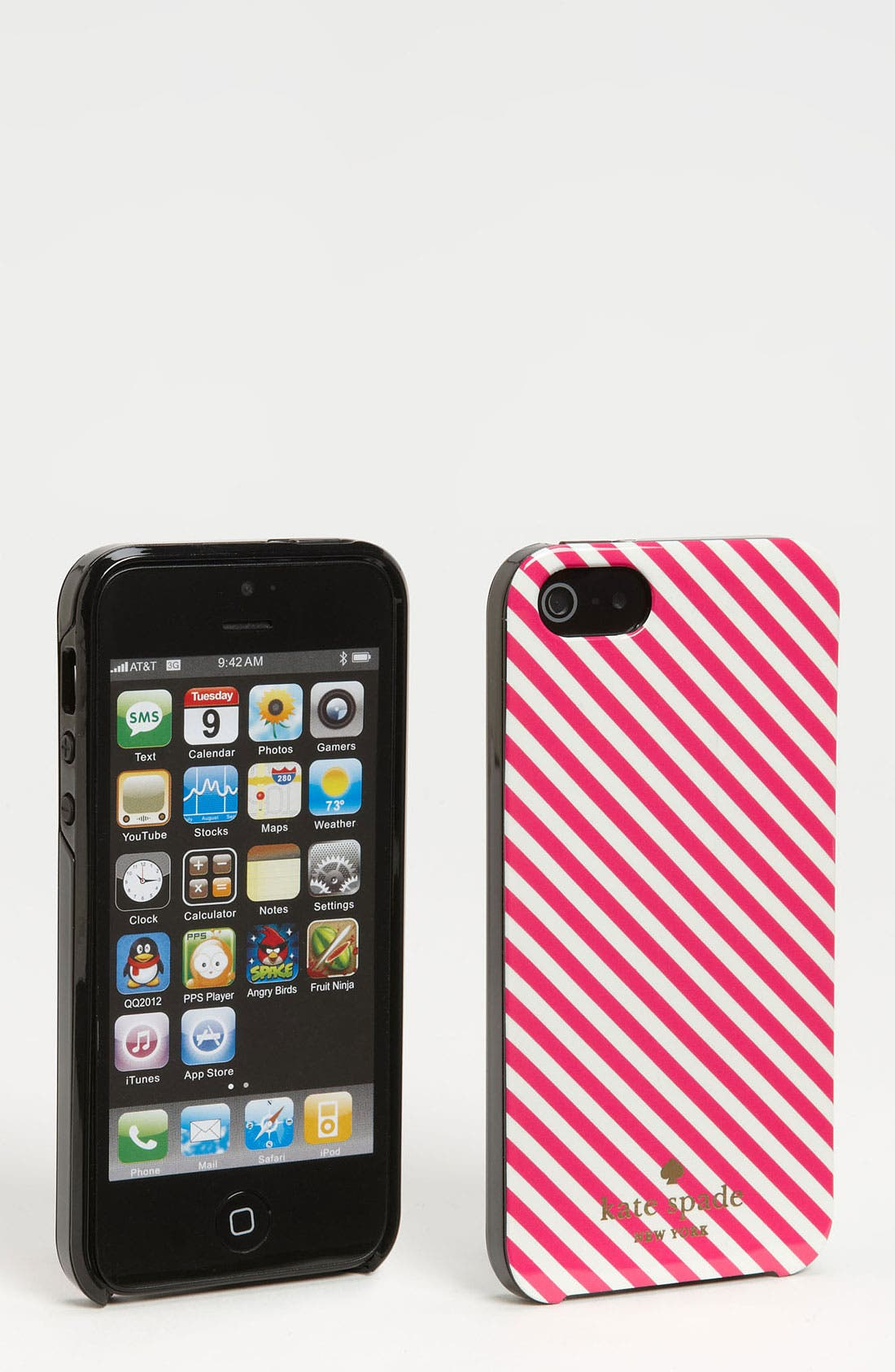 Alternate Image 1 Selected - kate spade new york 'harrison stripe' iPhone 5 & 5s case
