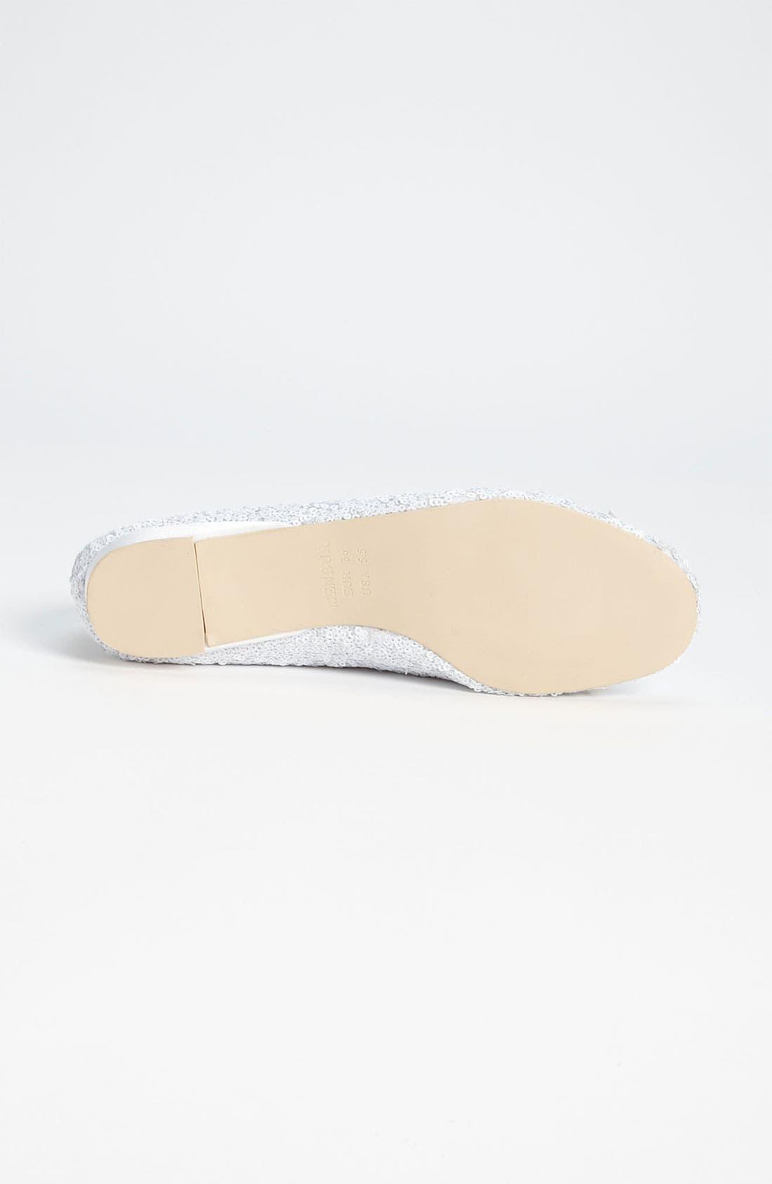 Sequin Flat,                             Alternate thumbnail 4, color,                             Ivory