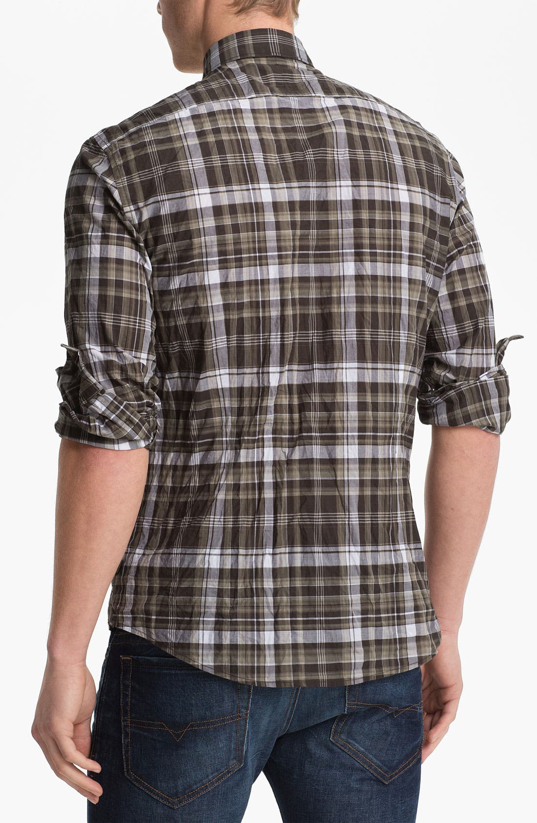 Alternate Image 2  - John Varvatos Star USA Slim Fit Wire Collar Shirt