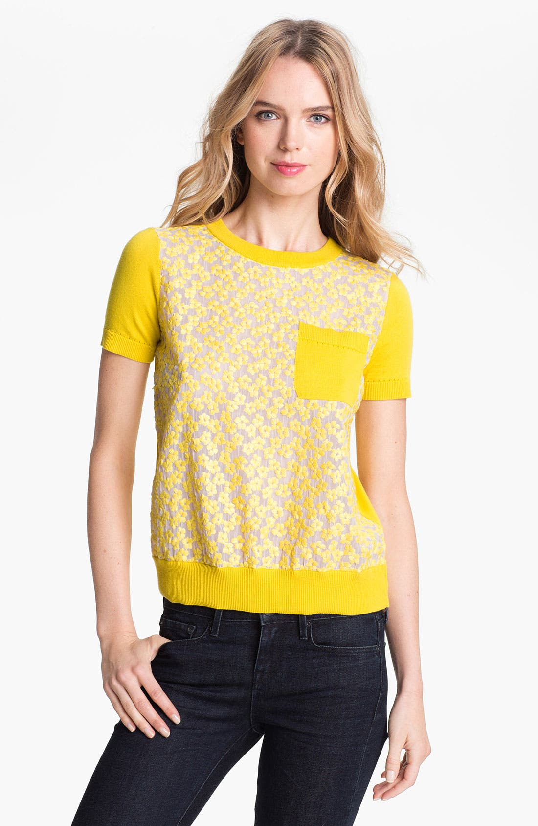 Main Image - kate spade new york 'mercy' cotton sweater