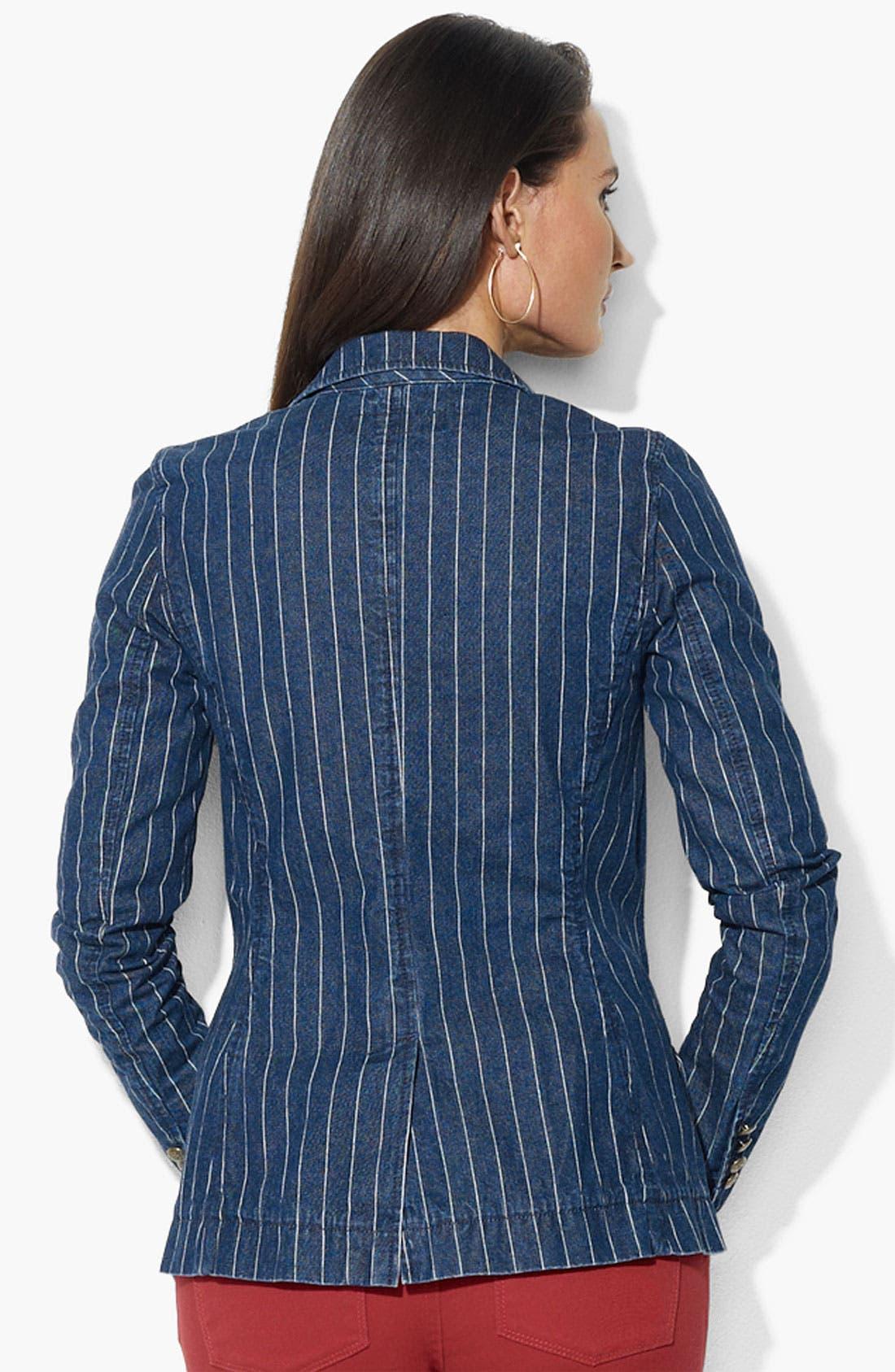 Alternate Image 2  - Lauren Ralph Lauren One Button Jacket (Petite)(Online Only)