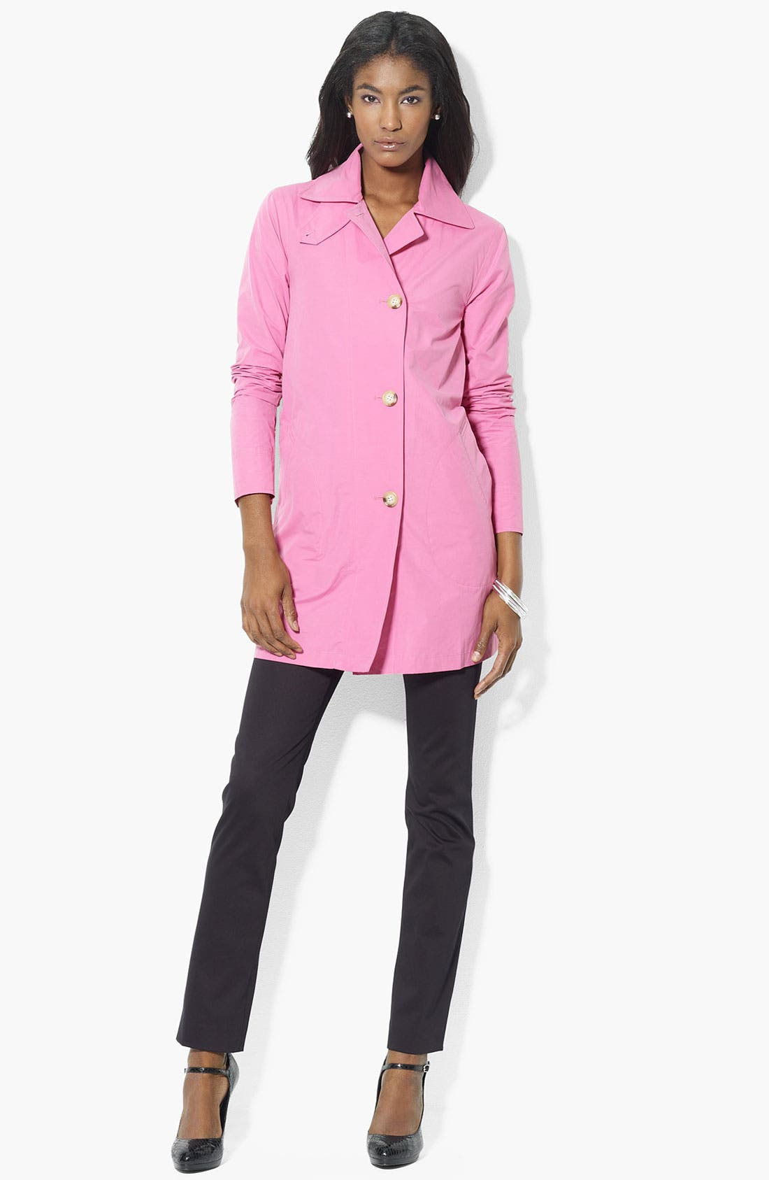 Main Image - Lauren Ralph Lauren Button Front Jacket (Petite) (Online Exclusive)