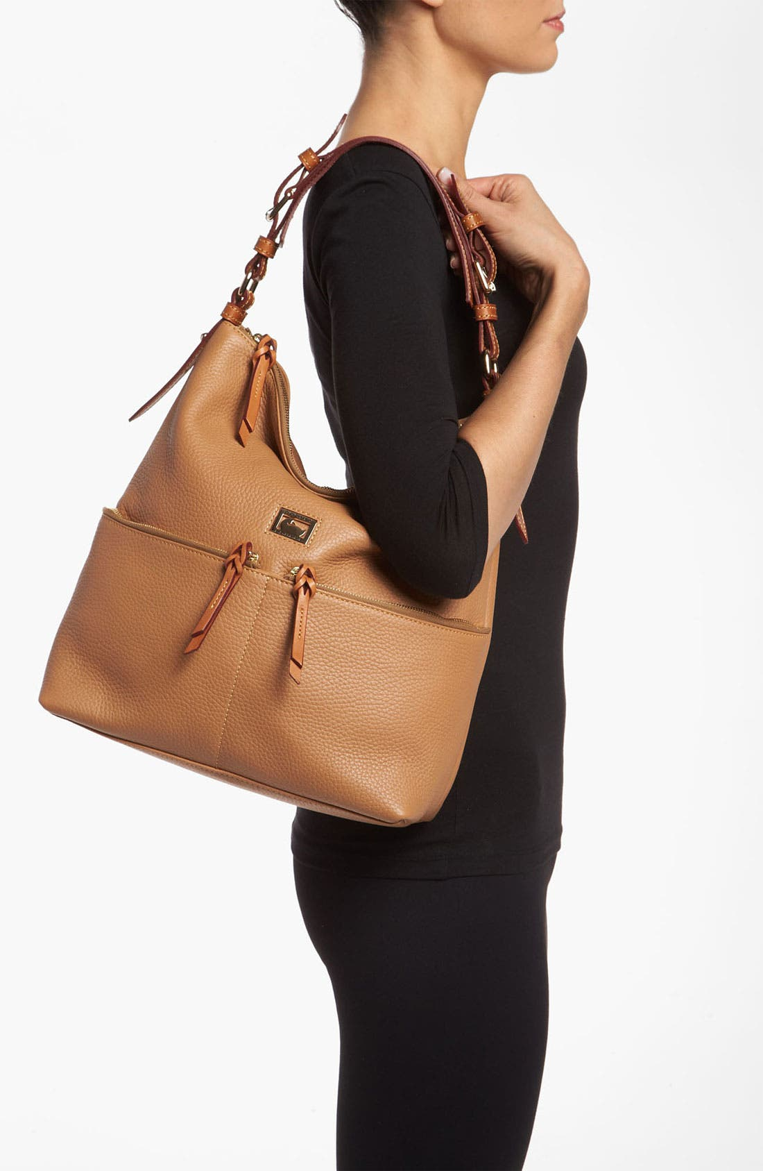 Alternate Image 2  - Dooney & Bourke 'Dillen - Medium' Zip Pocket Leather Hobo