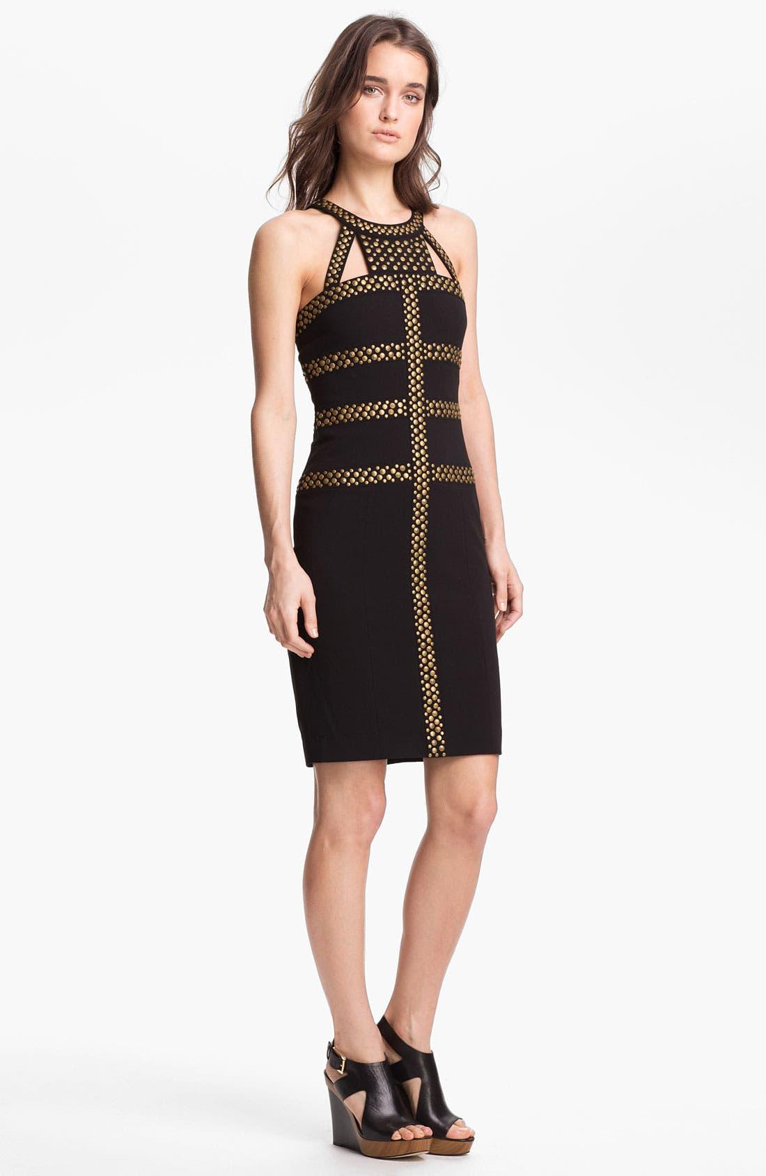 Alternate Image 1 Selected - BCBGMAXAZRIA Studded Sheath Dress