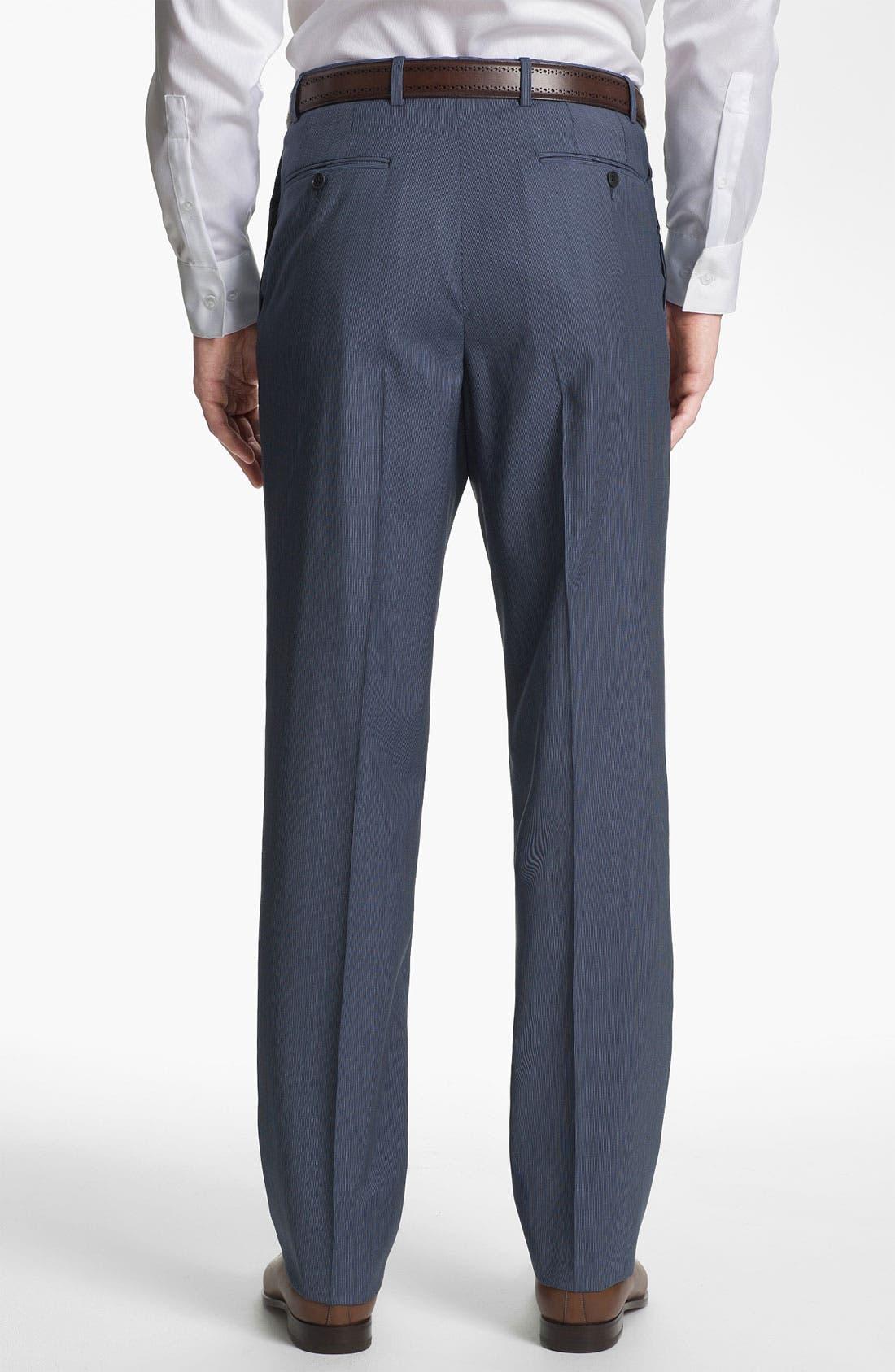 Alternate Image 5  - Joseph Abboud 'Profile' Trim Fit Stripe Wool Suit