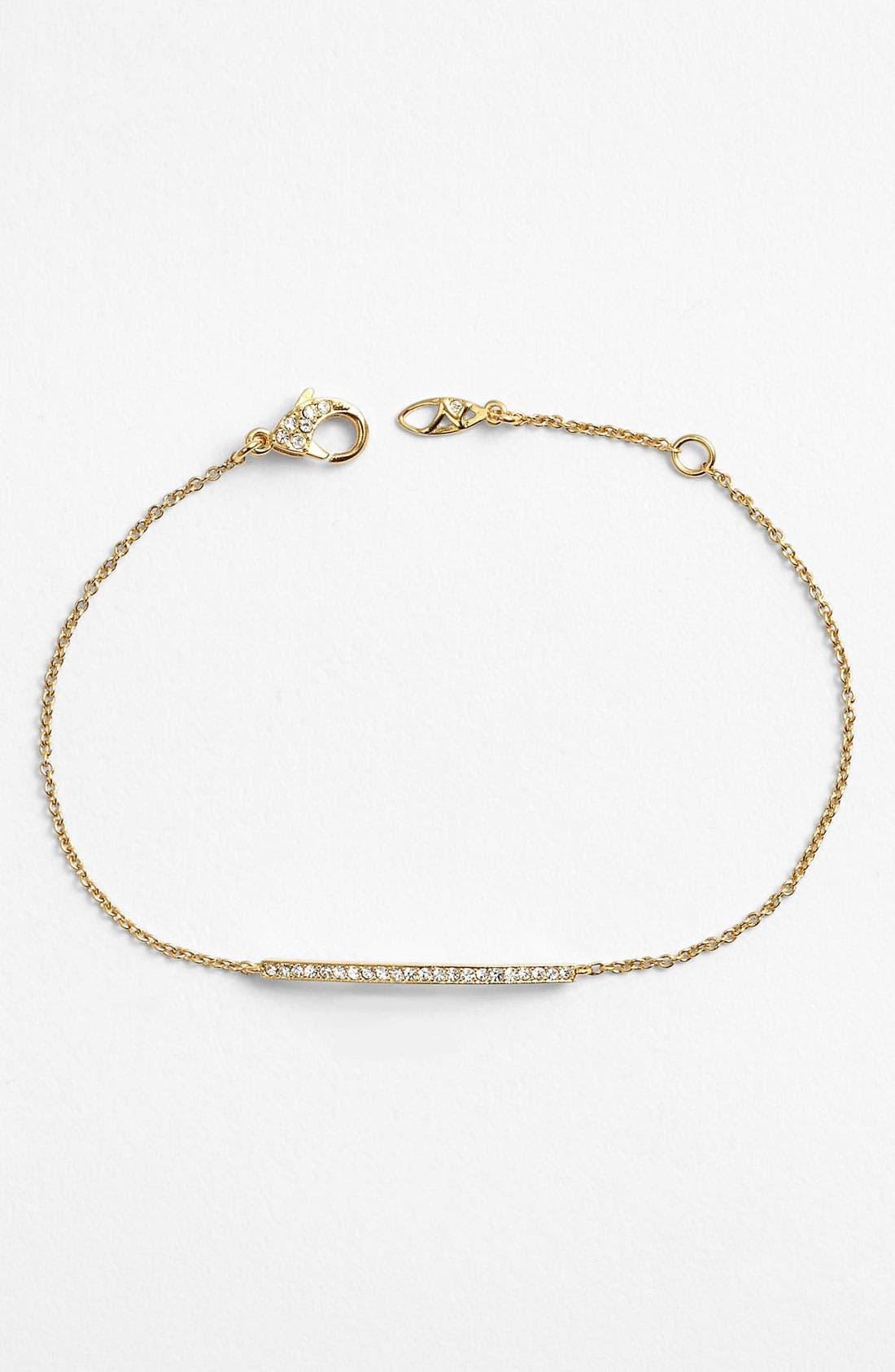 Bar Station Bracelet,                         Main,                         color, Bar - Gold/ Clear