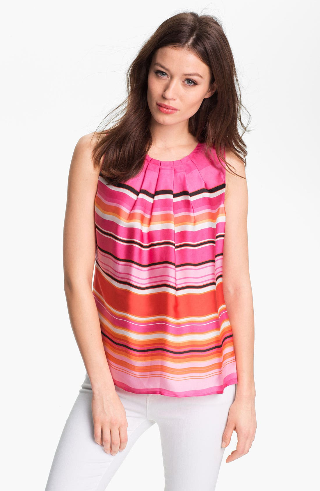 Alternate Image 1 Selected - Chaus Umbrella Stripe Blouse