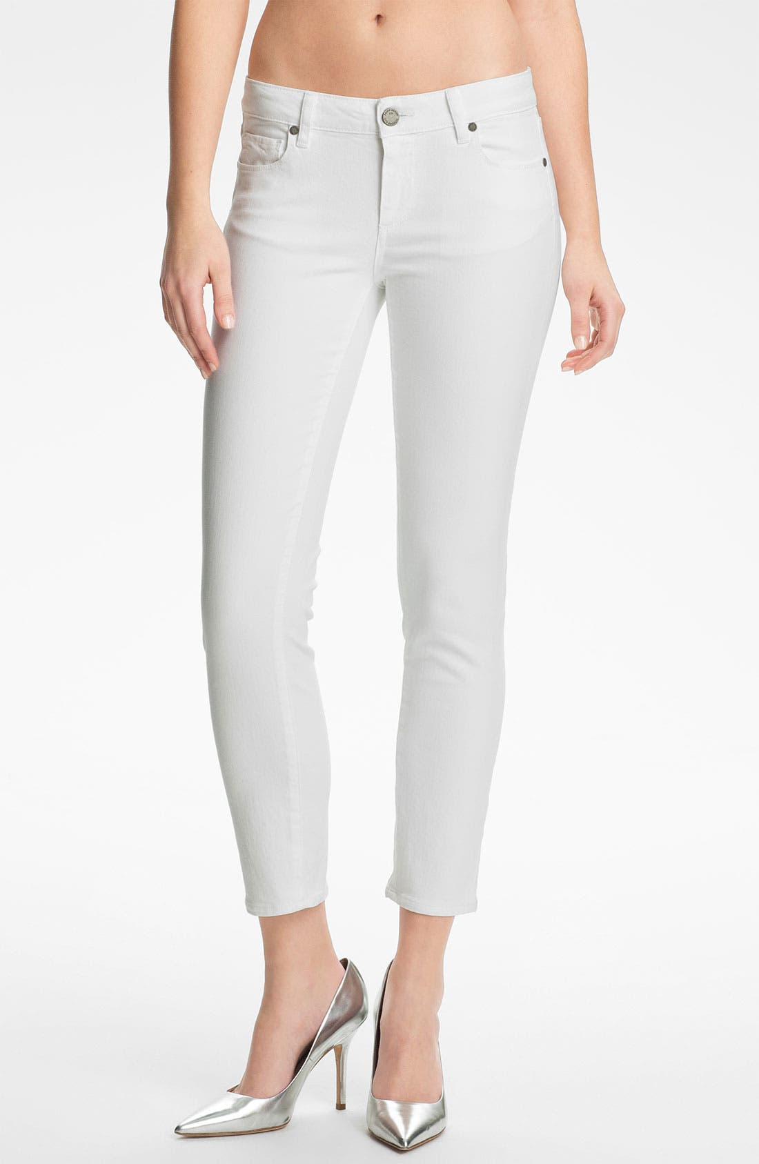 Main Image - Paige Denim 'Kylie' Crop Skinny Jeans (Optic White)