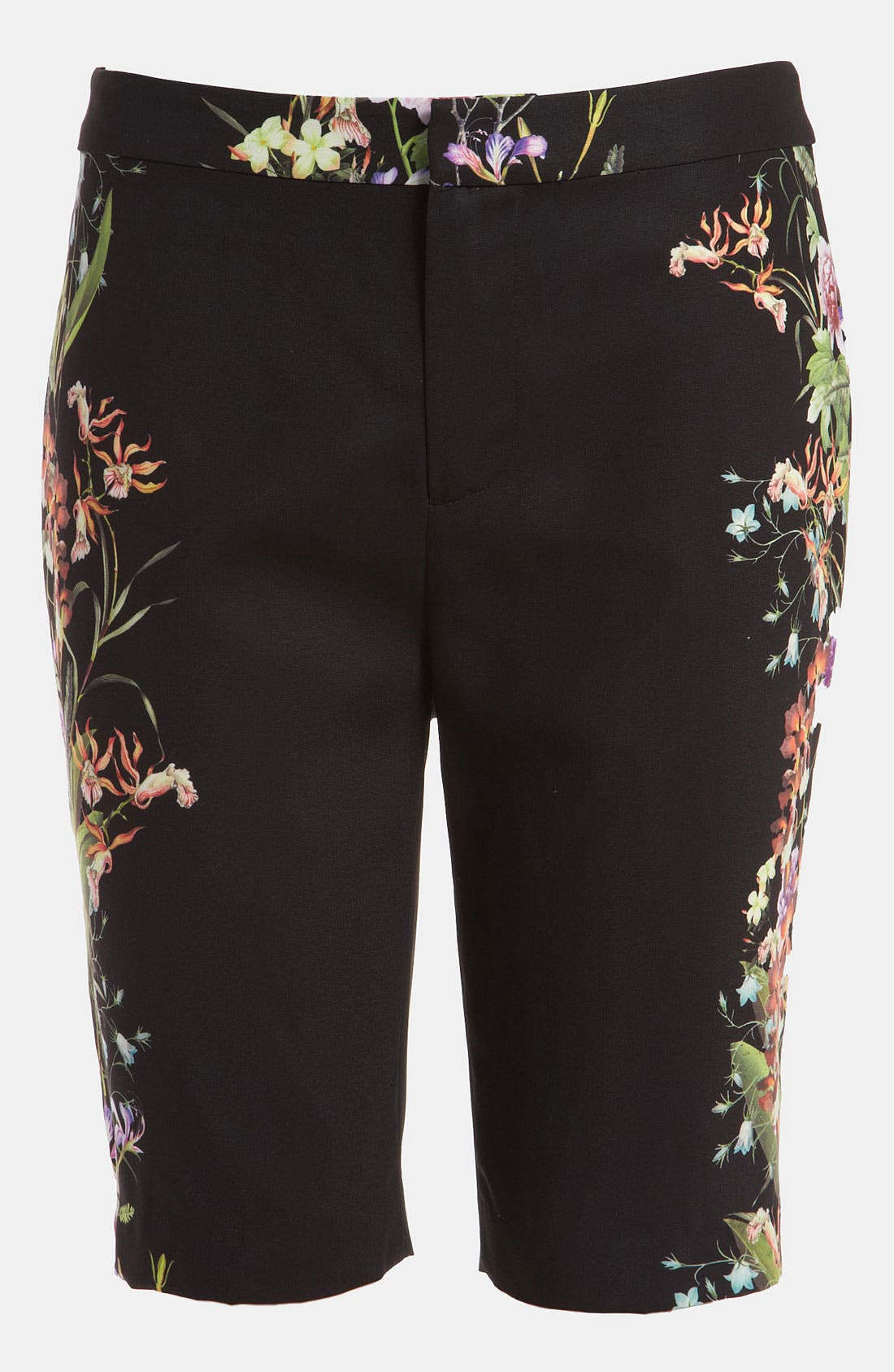 Main Image - Mural Flower Print Shorts