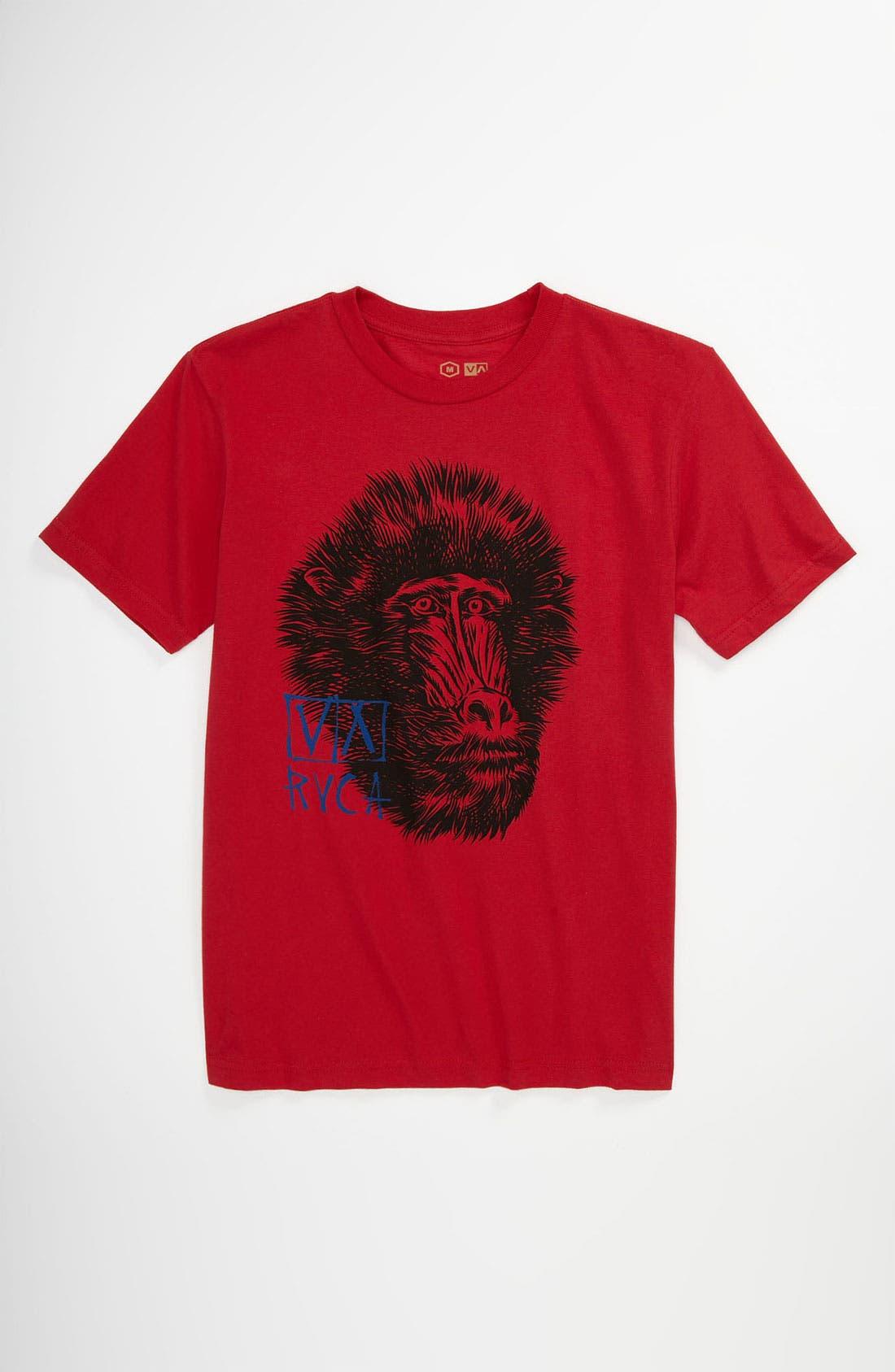 Alternate Image 1 Selected - RVCA 'Mandrill' T-Shirt (Big Boys)