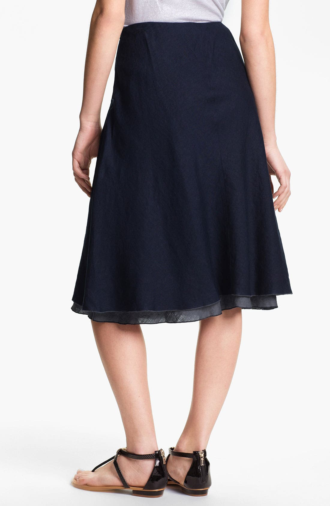 Alternate Image 2  - Eileen Fisher Double Layer Bias Linen Skirt (Petite)