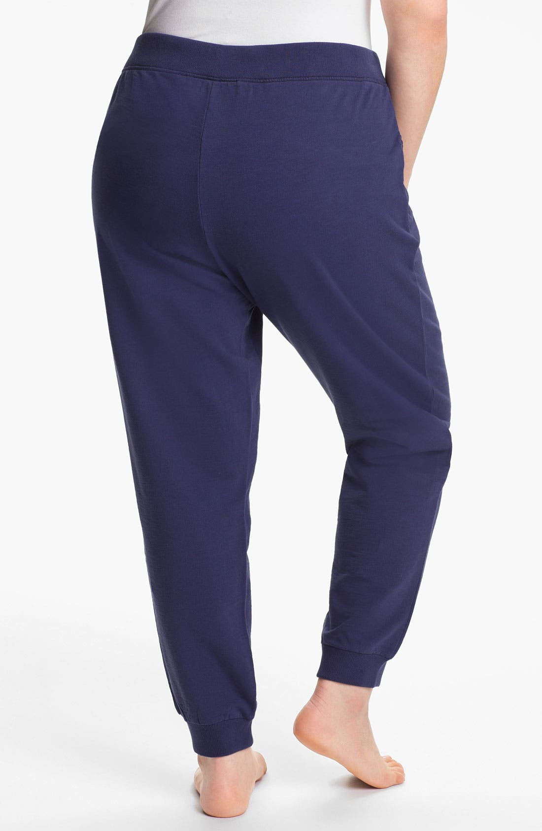 Alternate Image 2  - Sejour Cuff Terry Pants (Plus Size)