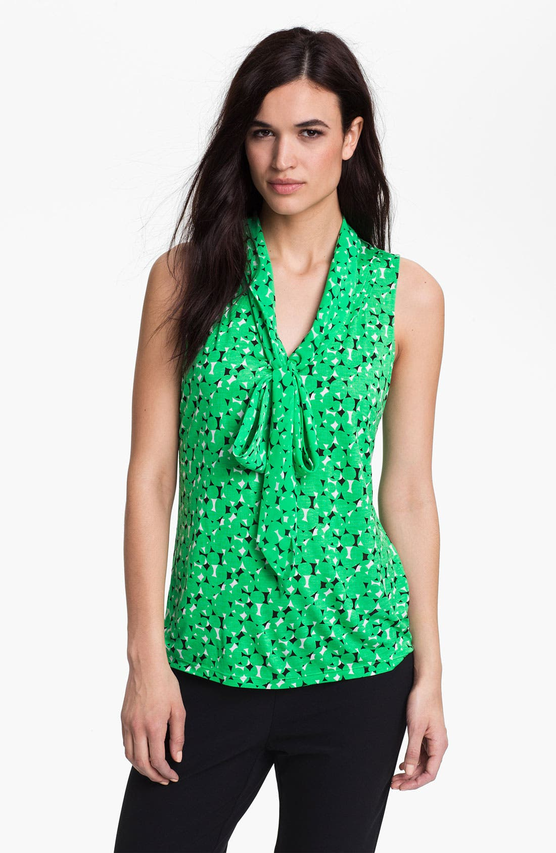Alternate Image 1 Selected - Halogen Low Bow Sleeveless Top