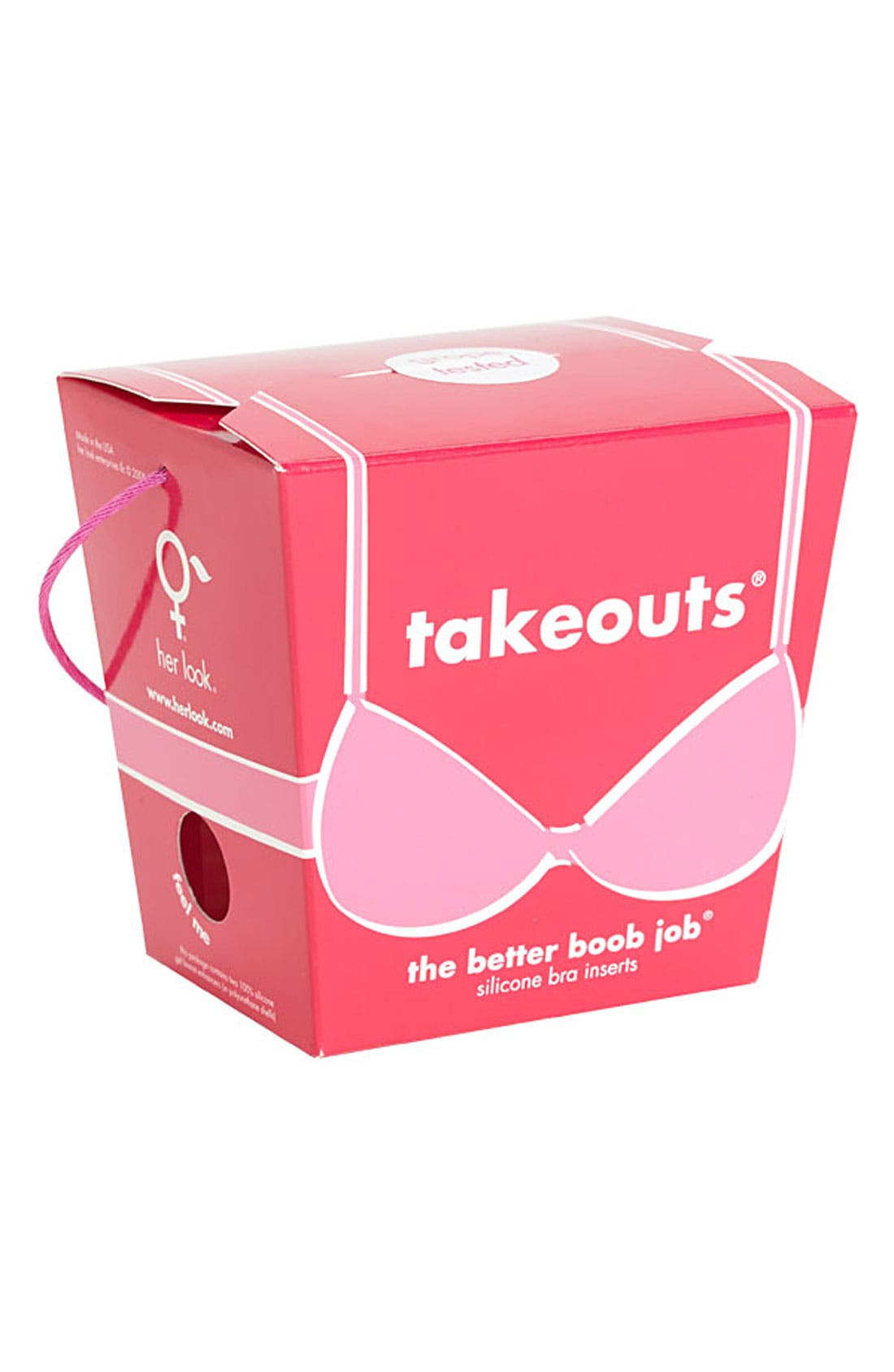 'Takeouts<sup>®</sup>' Bra Inserts,                             Alternate thumbnail 2, color,                             Clear