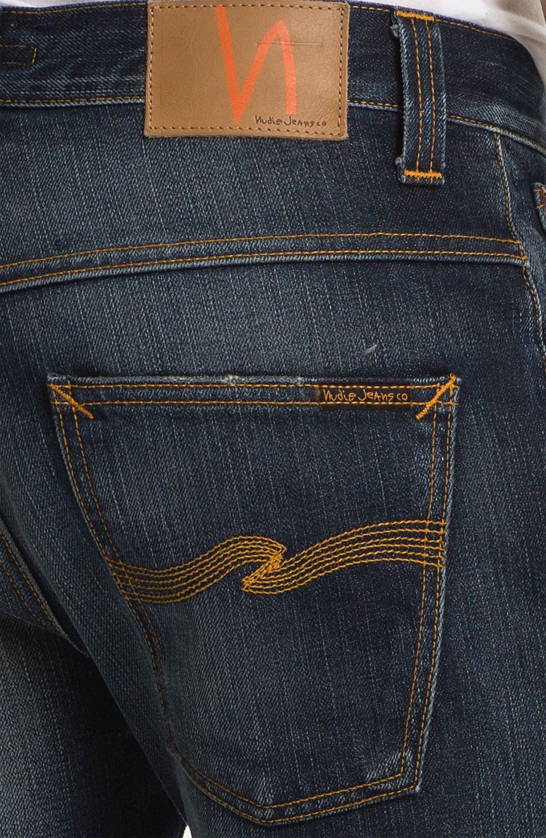 Alternate Image 4  - Nudie 'Hank Rey' Straight Leg Jeans (Organic Indigo Depth)