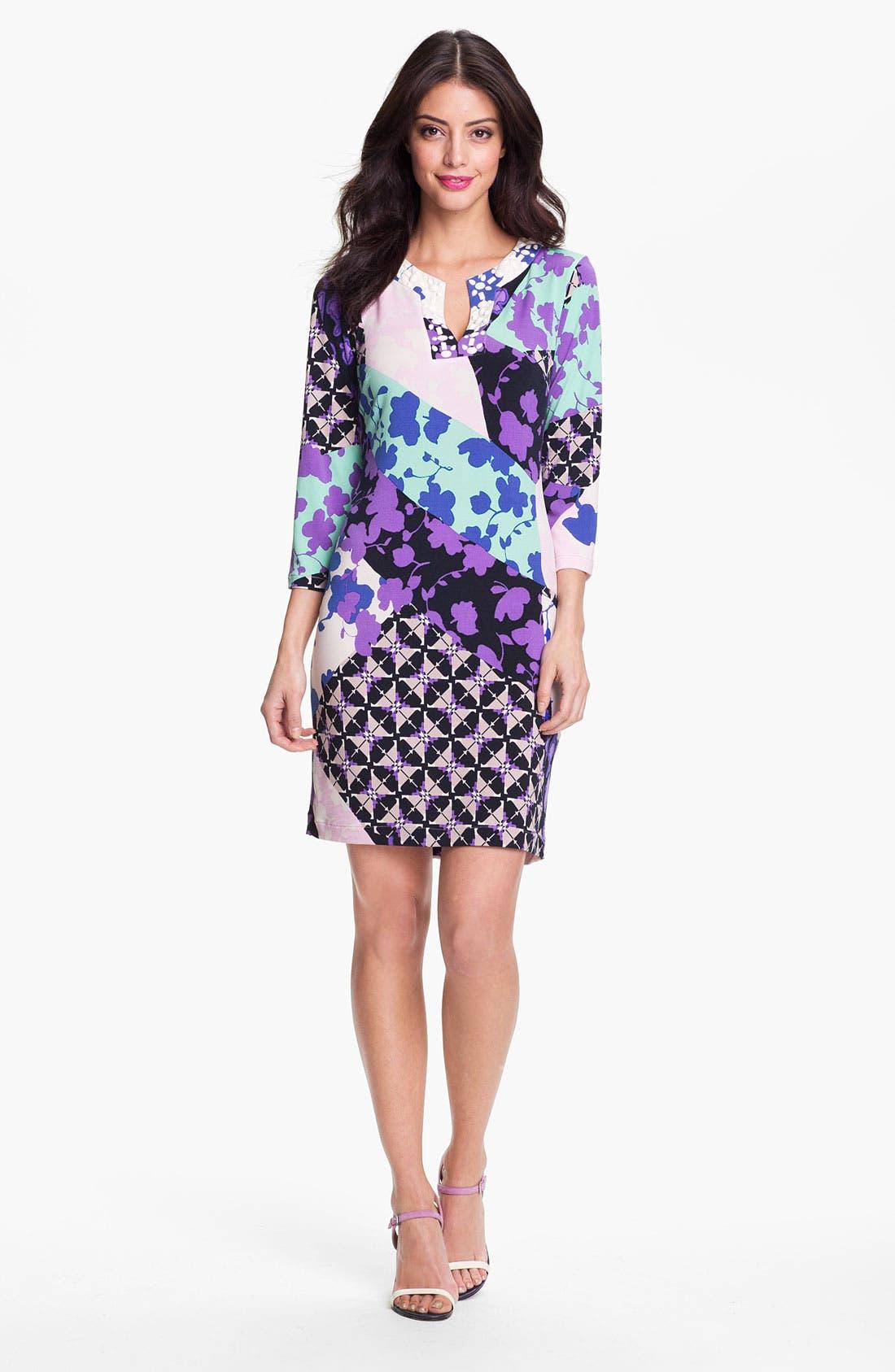 Alternate Image 1 Selected - Donna Morgan 'Misha' Print Shift Dress