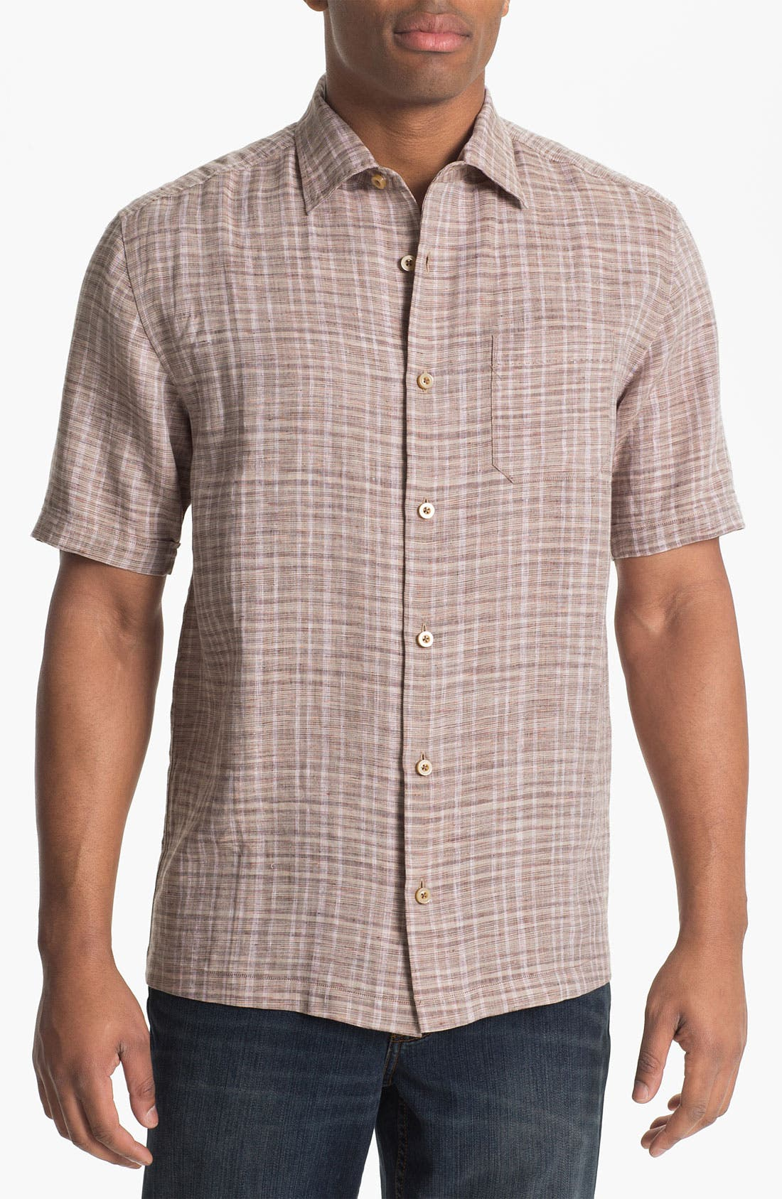 Alternate Image 1 Selected - Tommy Bahama 'Bravo Blanco' Linen Campshirt