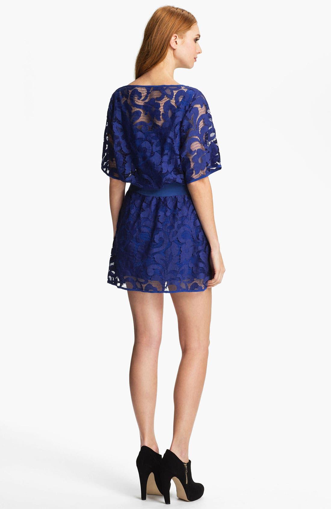 Alternate Image 2  - Milly Lace Blouson Minidress