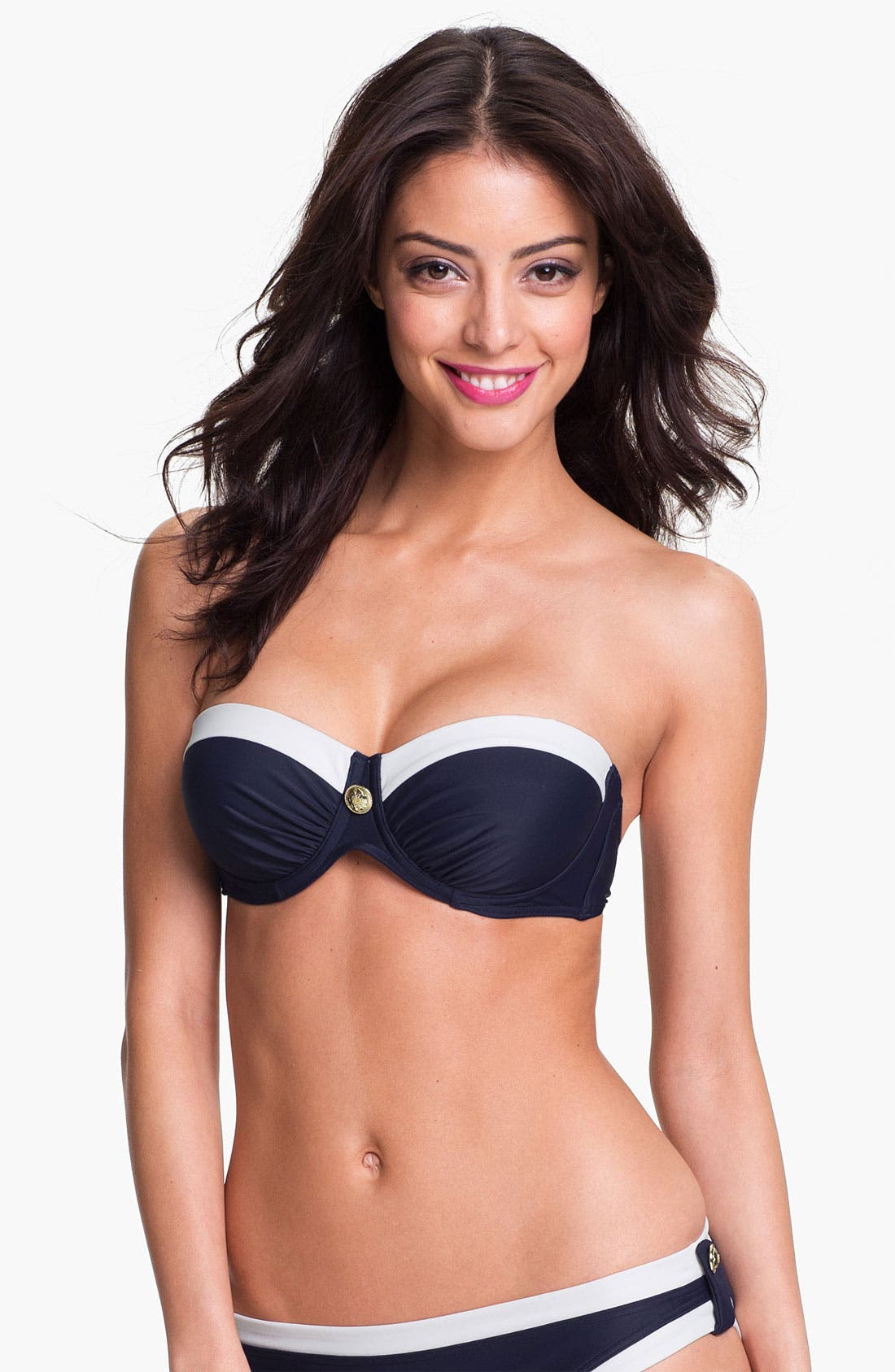 Alternate Image 1 Selected - Ted Baker London 'Anka' Padded Bandeau Bikini Top